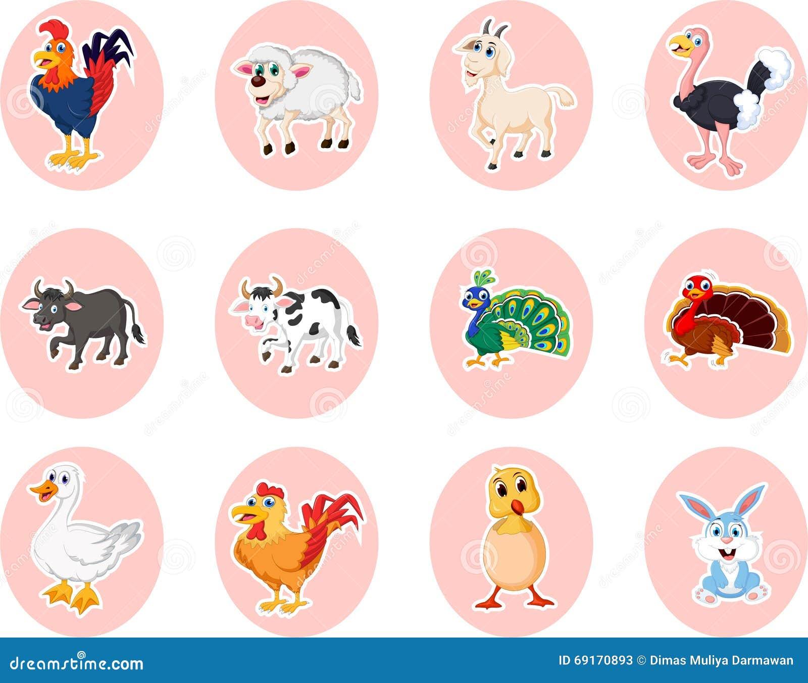 Insieme del fumetto della fattoria degli animali for Piani di riproduzione della fattoria