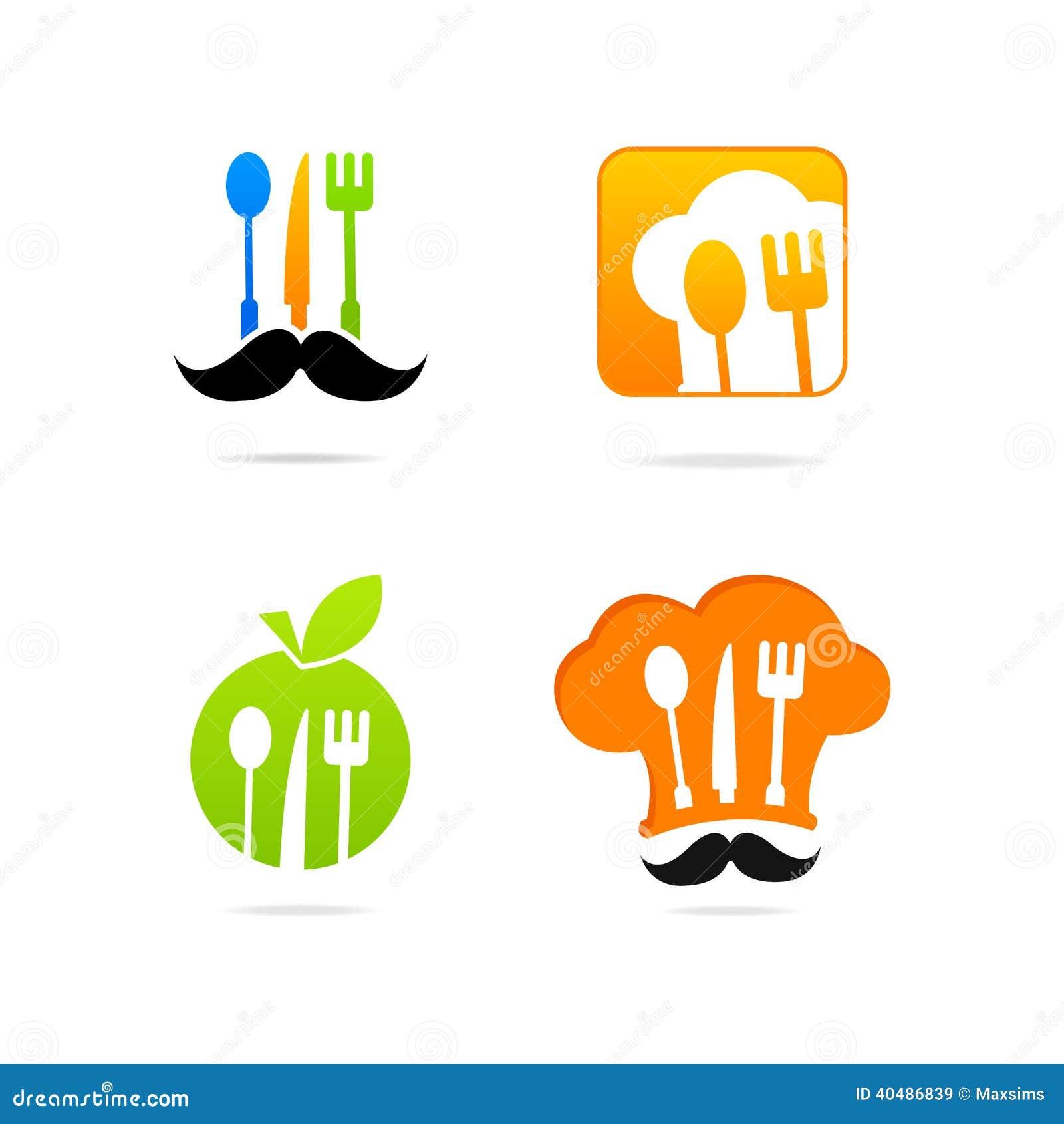 Insieme del segno del menu di logo della cucina di icon for Cucina logo