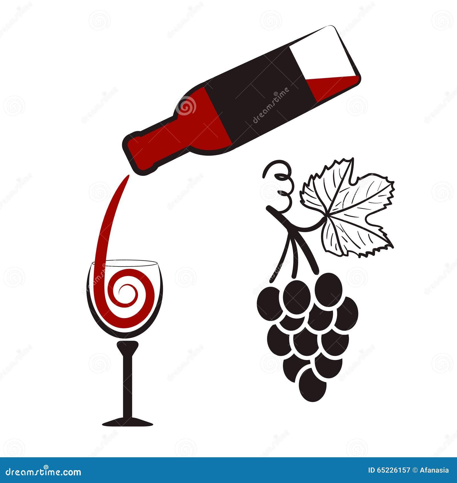 Insieme del vino bottiglia di vino del bicchiere di vino for Disegni del mazzo del cortile