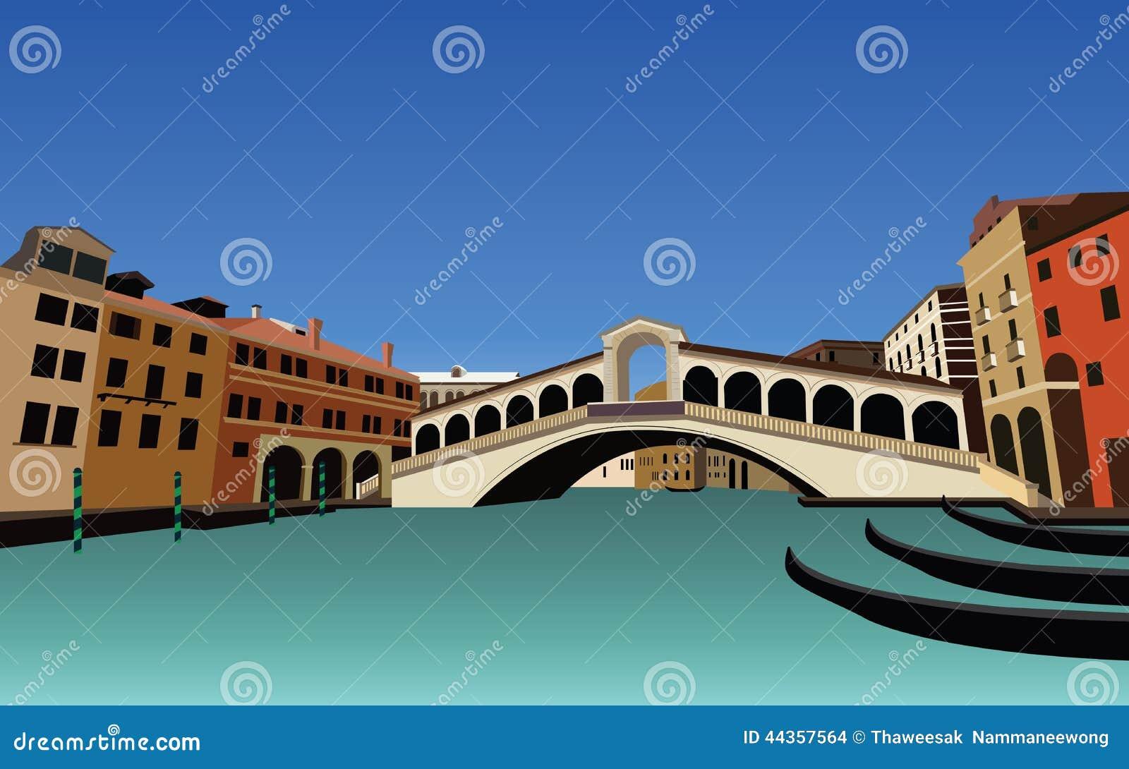 Insieme dell edificio di Venezia e del paesaggio di architettura