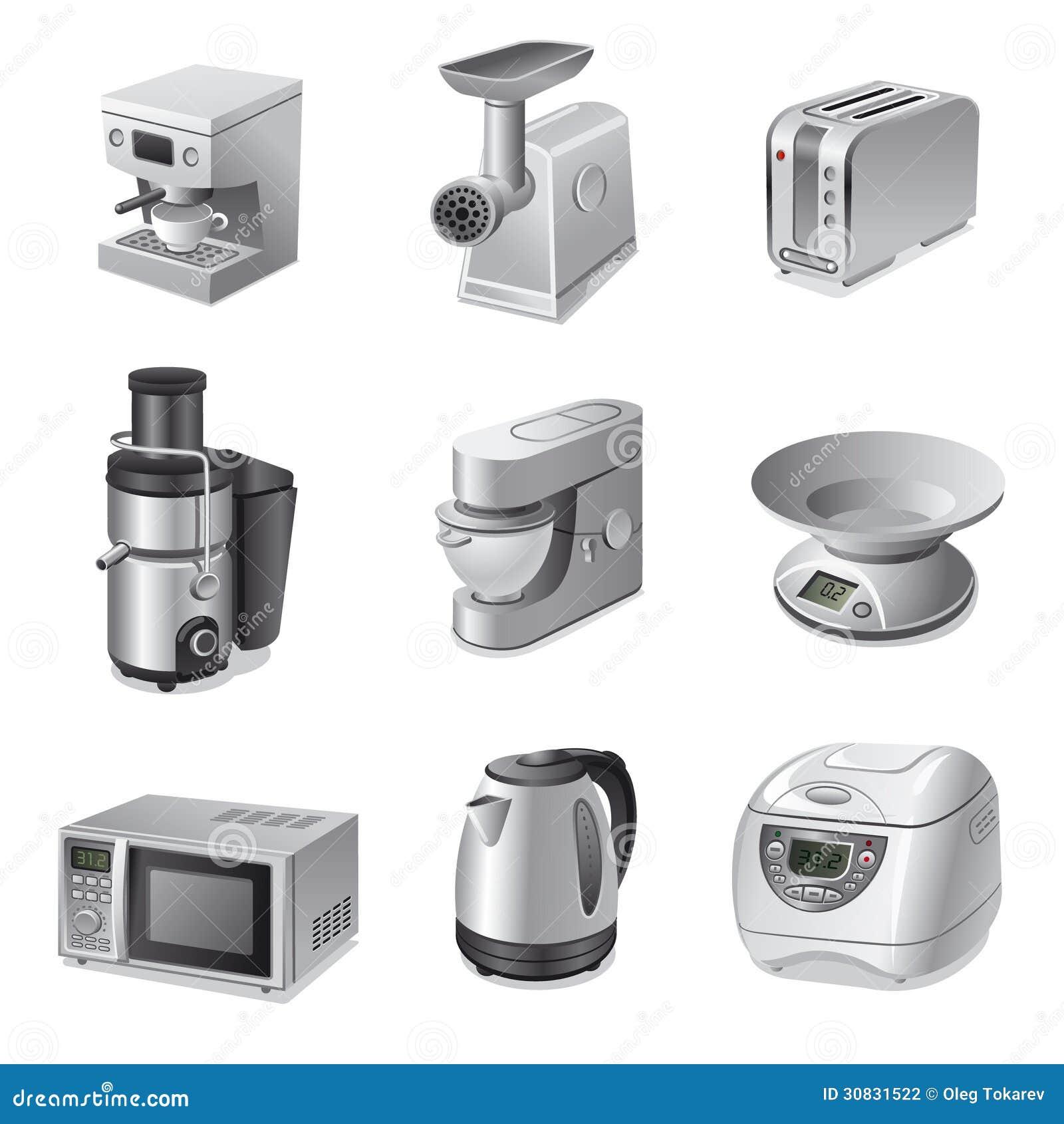 Insieme dell icona degli elettrodomestici da cucina