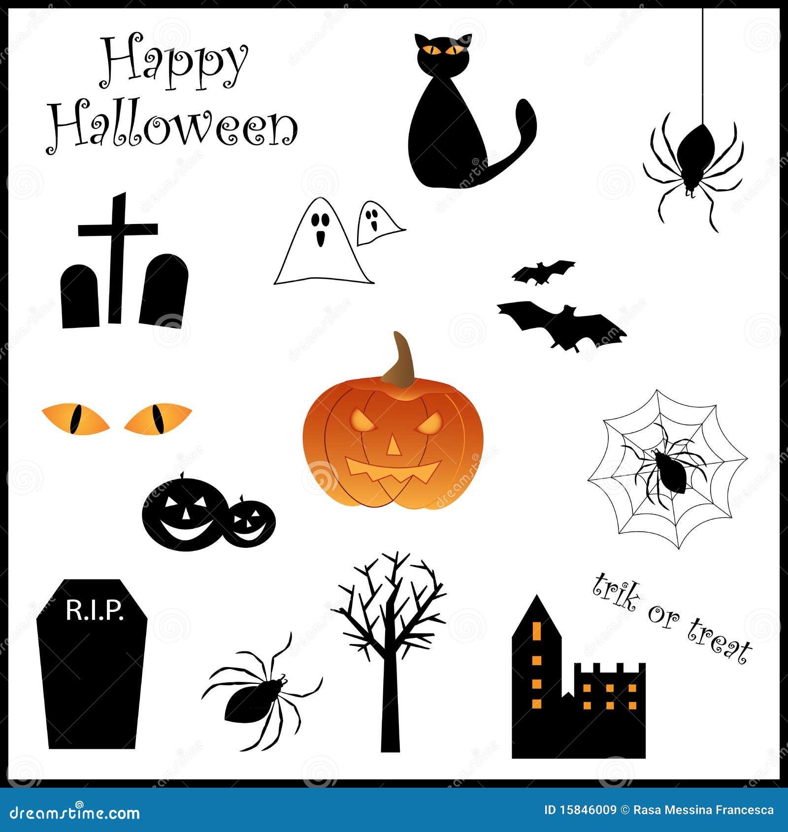 Insieme dell icona di Halloween