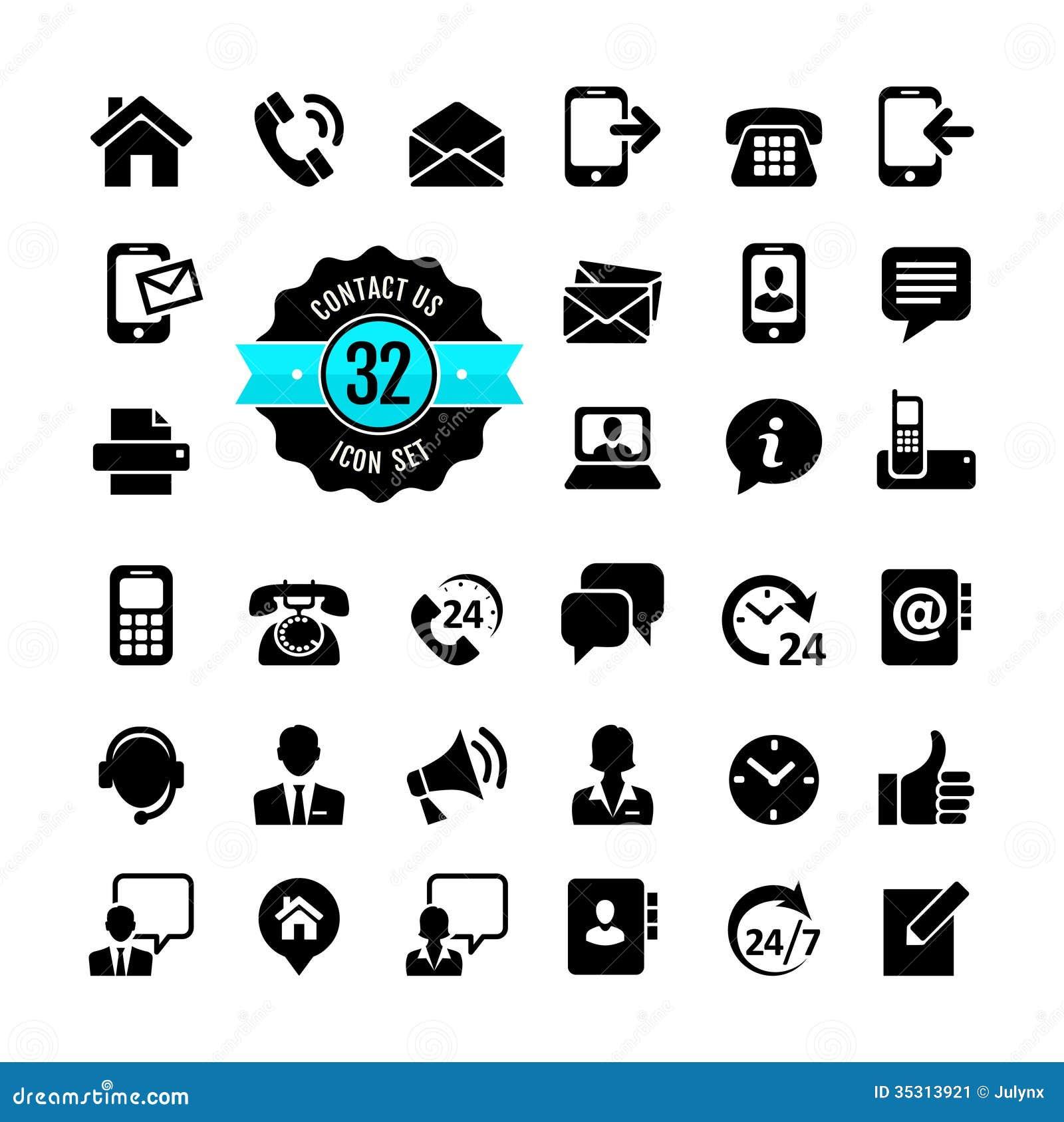 Insieme dell icona di web. Contattici