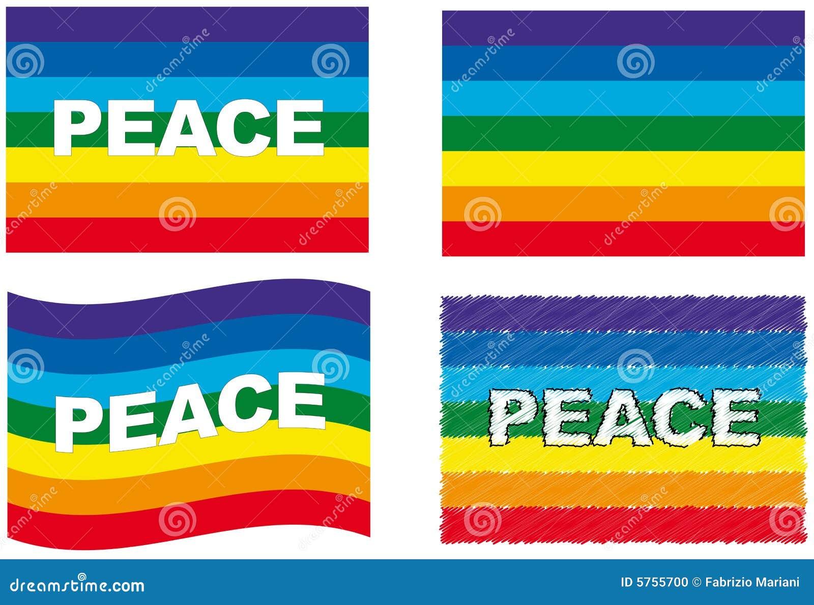 Insieme della bandierina di pace