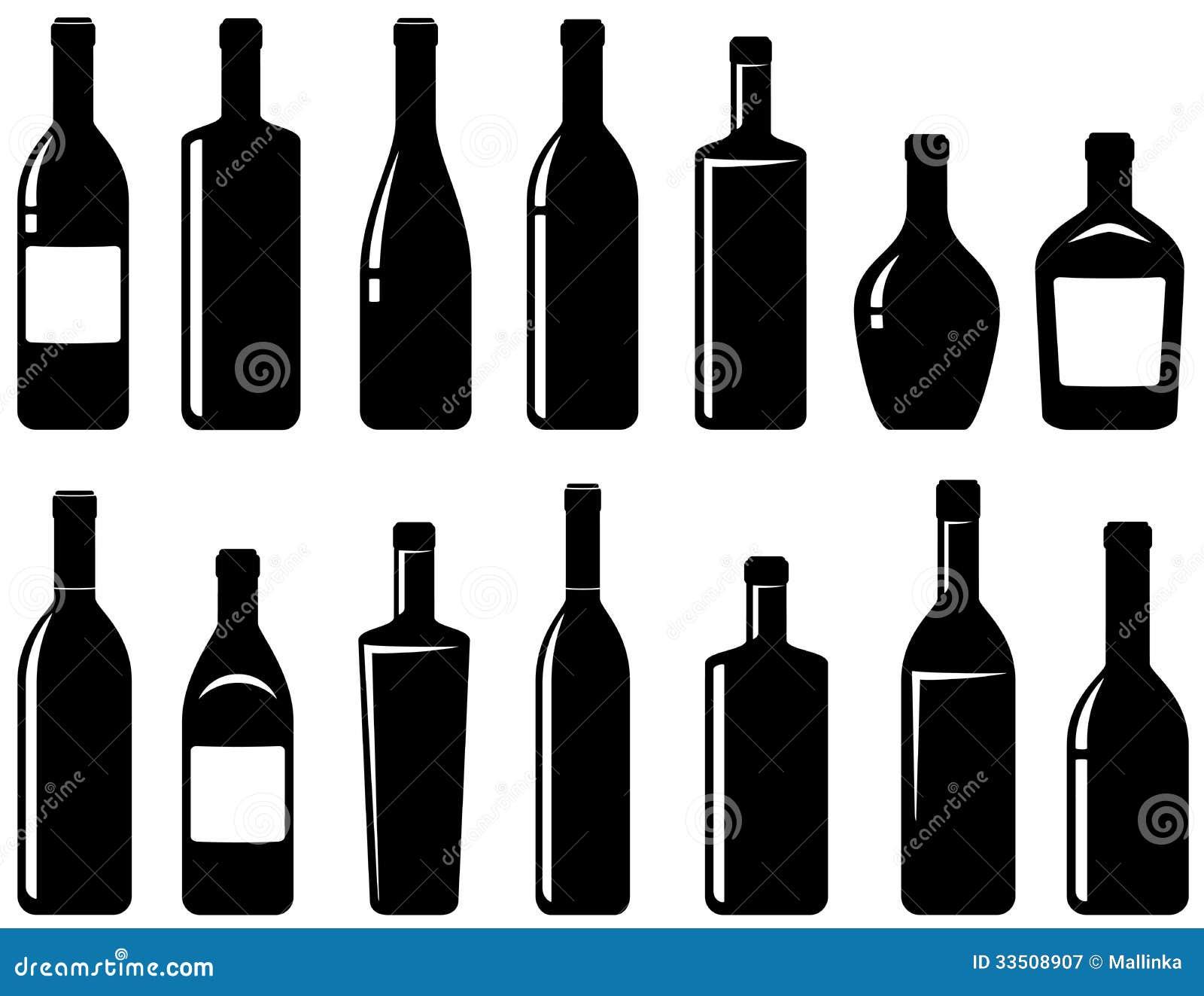 Insieme delle bottiglie di vino lucide illustrazione di for Botole per tetti prezzi