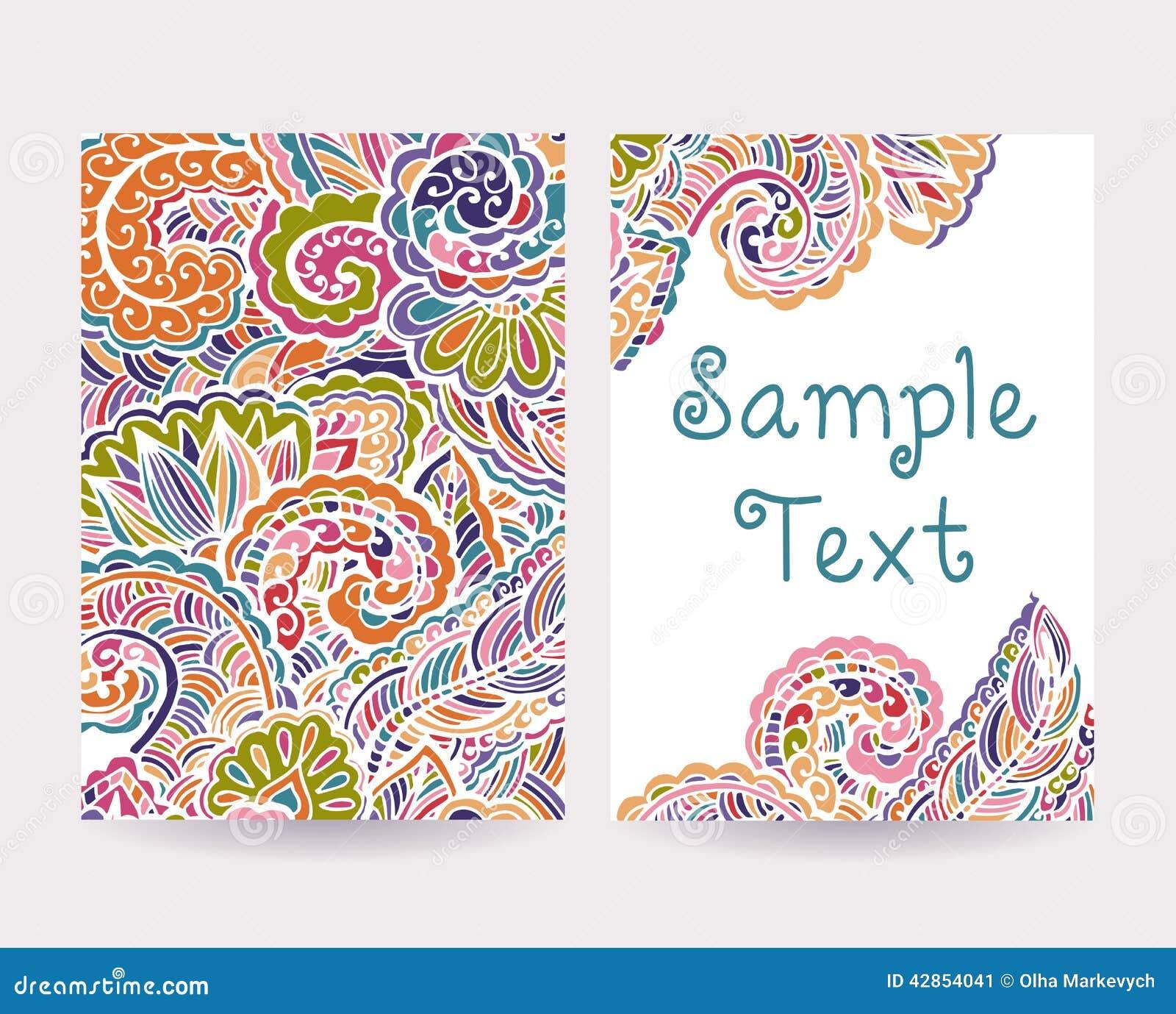 insieme delle carte decorative 2 illustrazione vettoriale