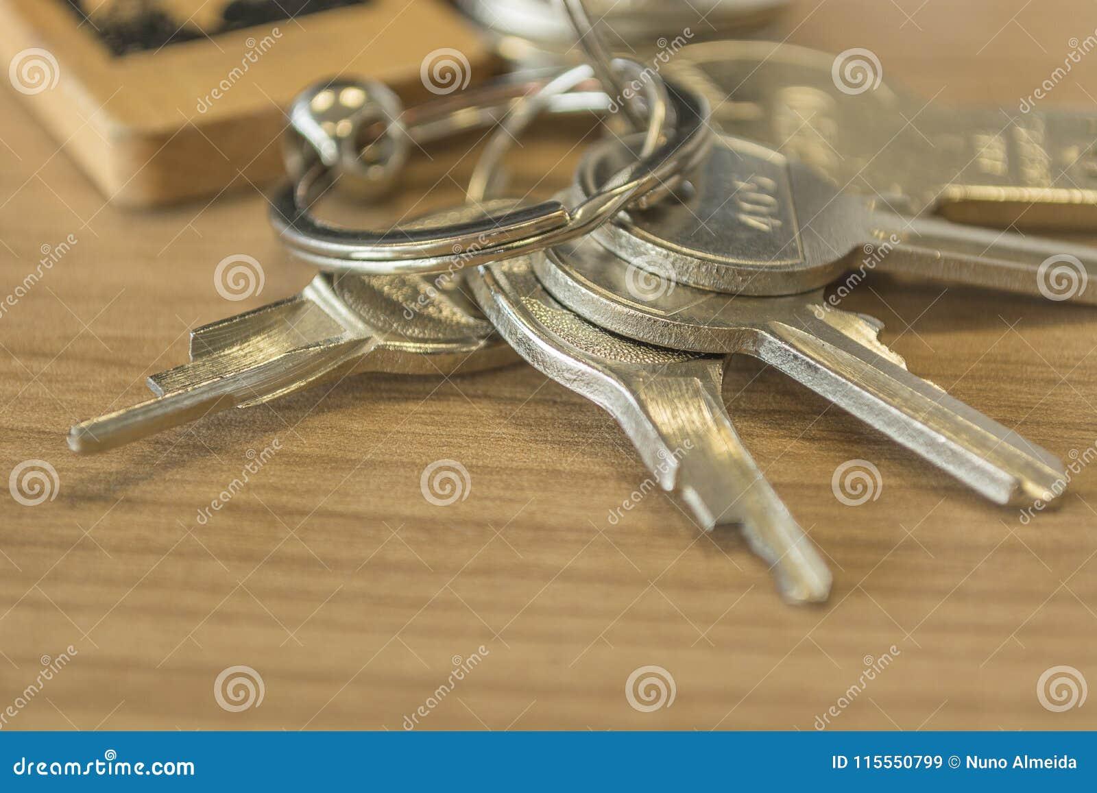 Insieme delle chiavi domestiche dettagliate