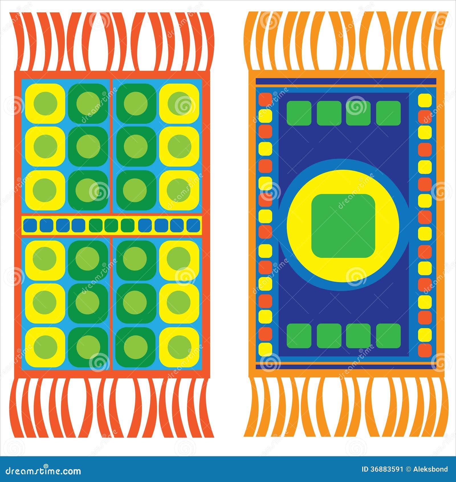 Download Insieme Delle Coperte Multicolori Isolate Su Bianco Illustrazione Vettoriale - Illustrazione di coperte, oggetto: 36883591