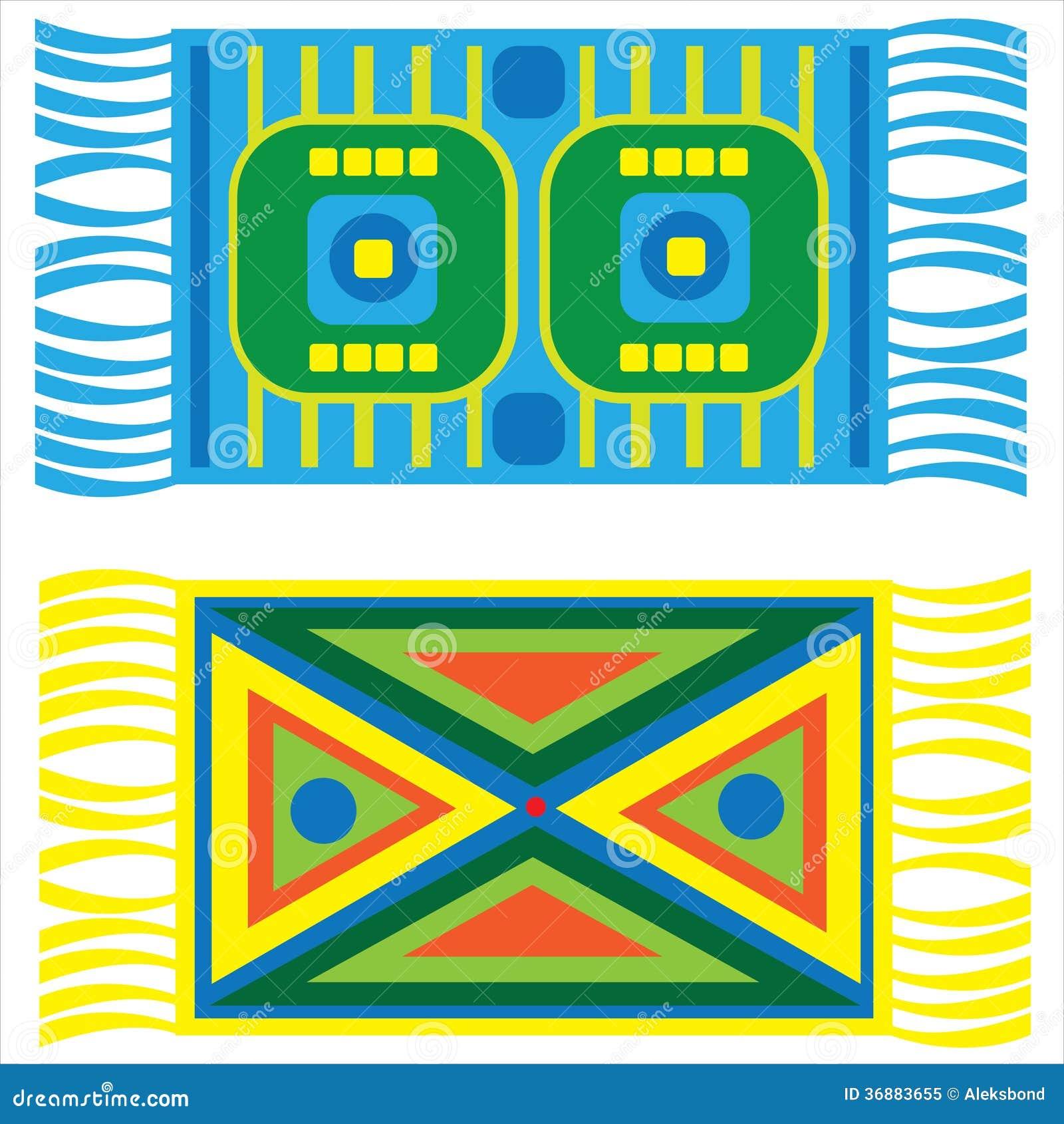 Download Insieme Delle Coperte Multicolori Isolate Su Bianco Illustrazione Vettoriale - Illustrazione di illustrazione, icona: 36883655
