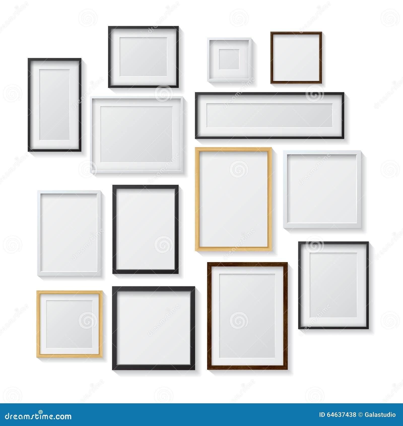 Insieme delle cornici in bianco bianche e nere e for Cornici foto bianche