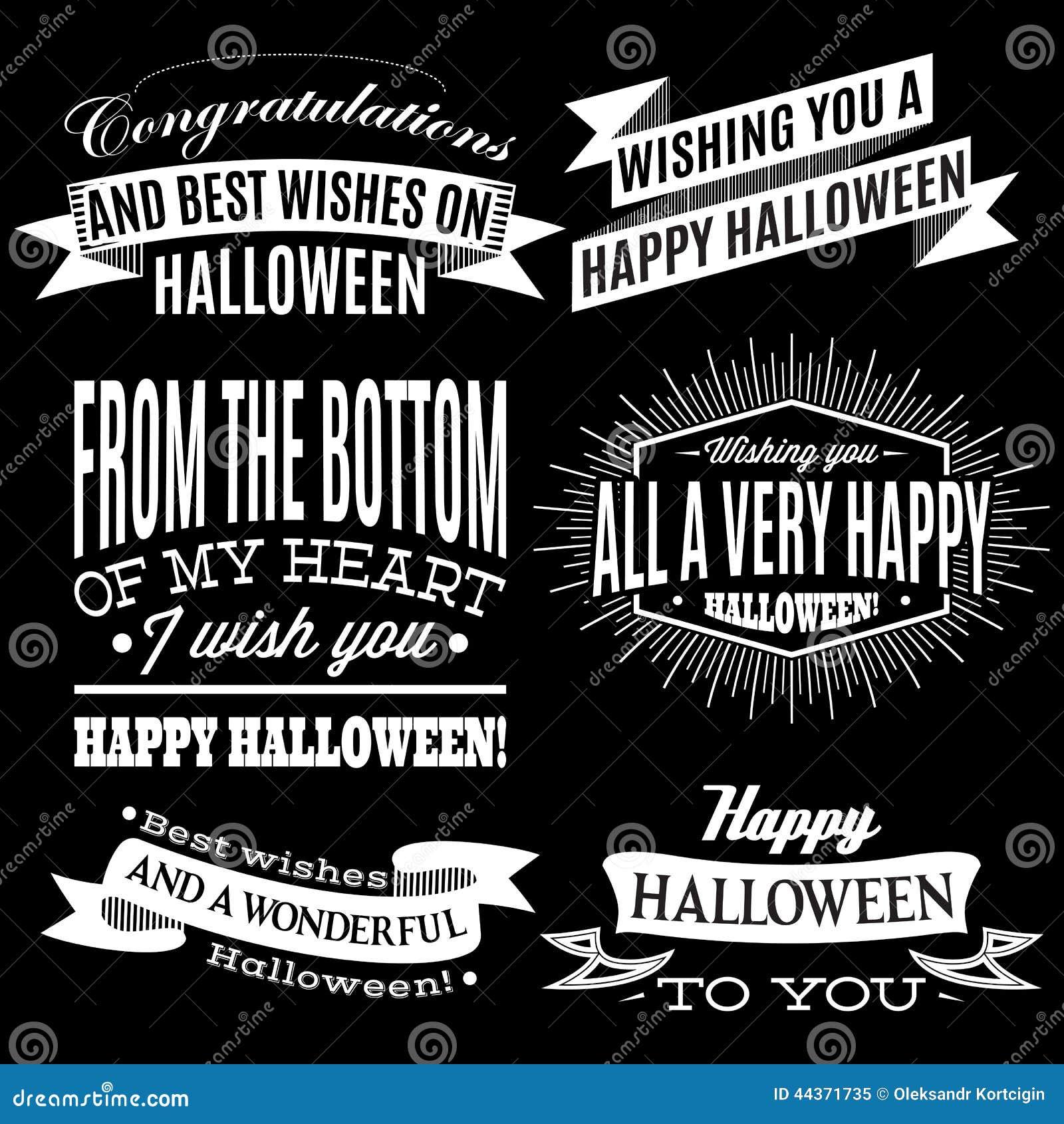 Insieme delle etichette per la festa di Halloween