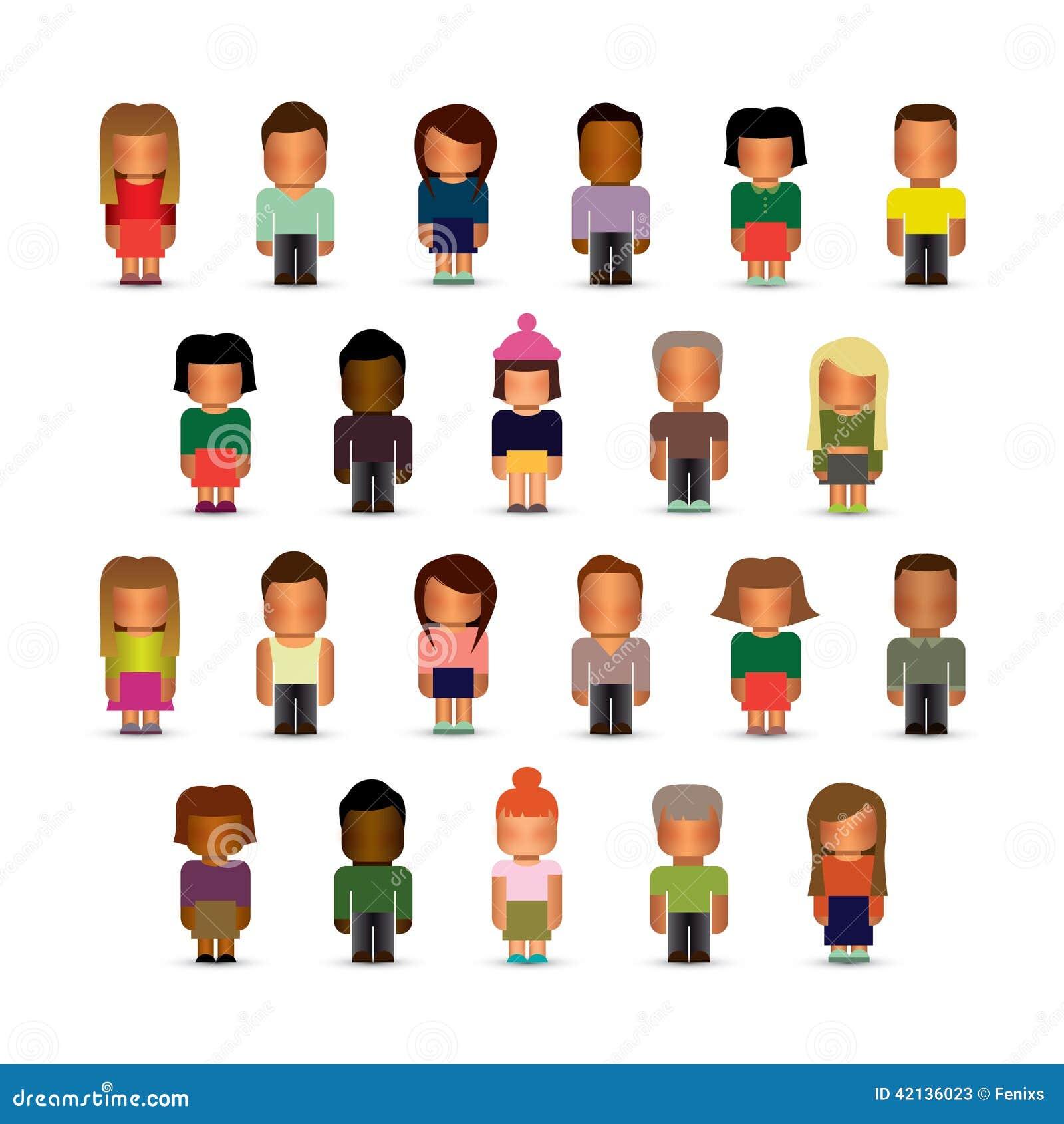 Figure Di Persone Stilizzate.Insieme Delle Figure Stilizzate Del Bambino Illustrazione Vettoriale