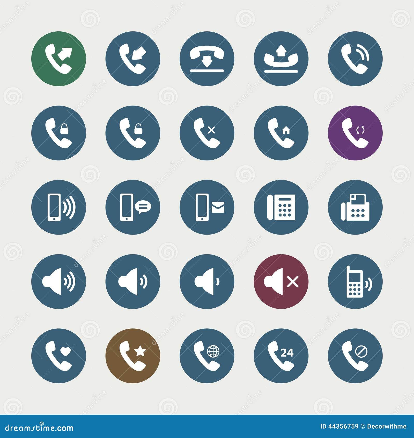Insieme delle icone del telefono