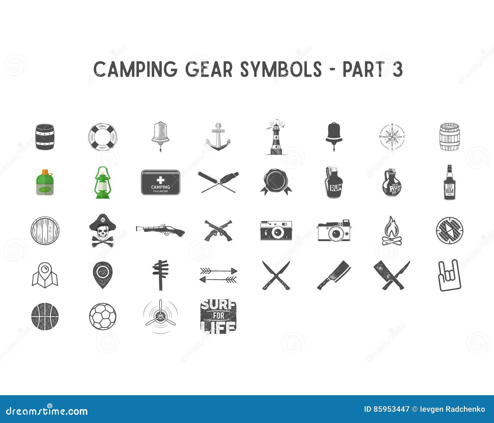 L insieme delle icone della siluetta di vettore e delle forme con  l ingranaggio all aperto differente 9c90433f3be