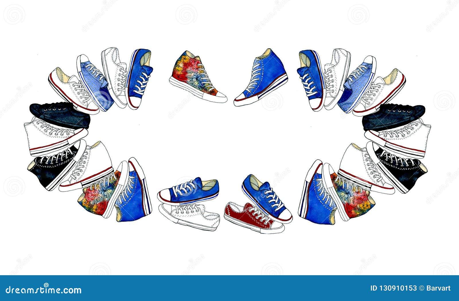 hot sale online 8d74e 719bc Insieme Delle Icone Delle Scarpe O Delle Scarpe Da Tennis Di ...