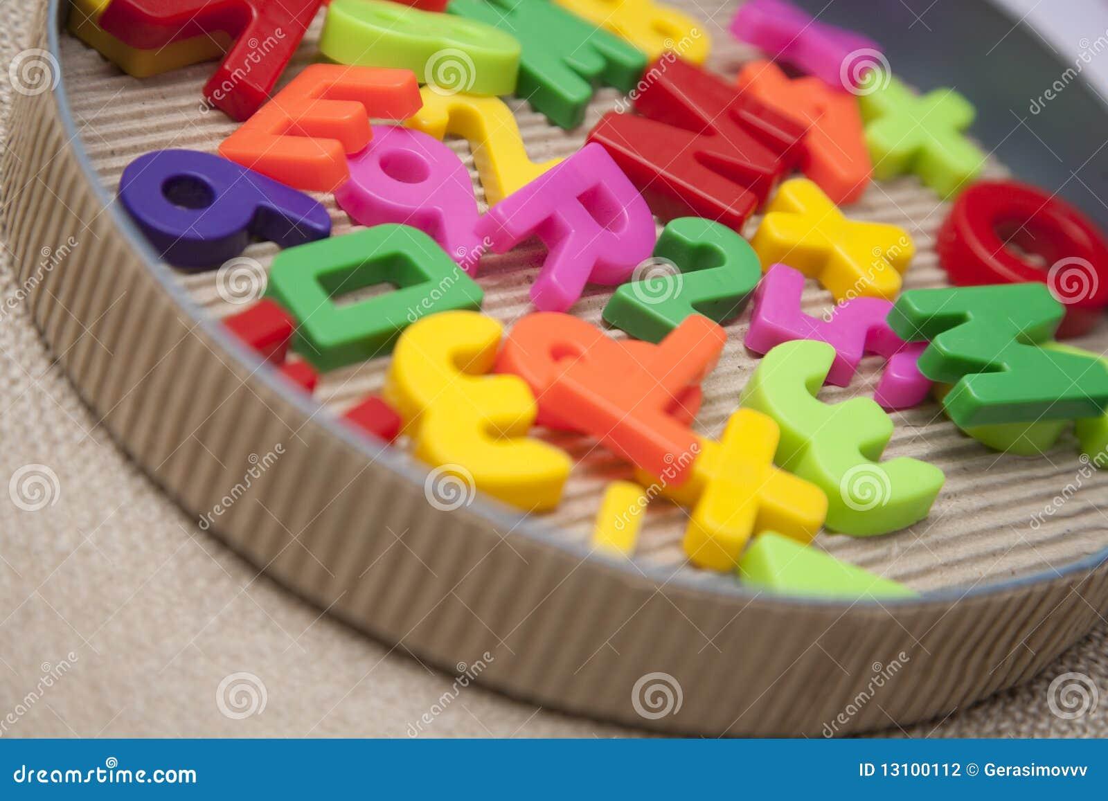 Insieme delle lettere e delle cifre magnetiche