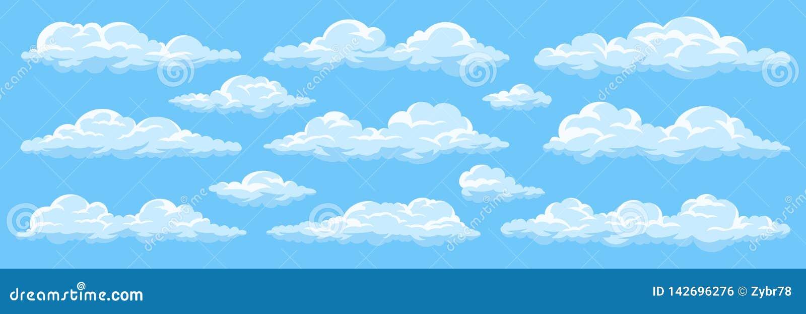 Insieme delle nuvole del fumetto