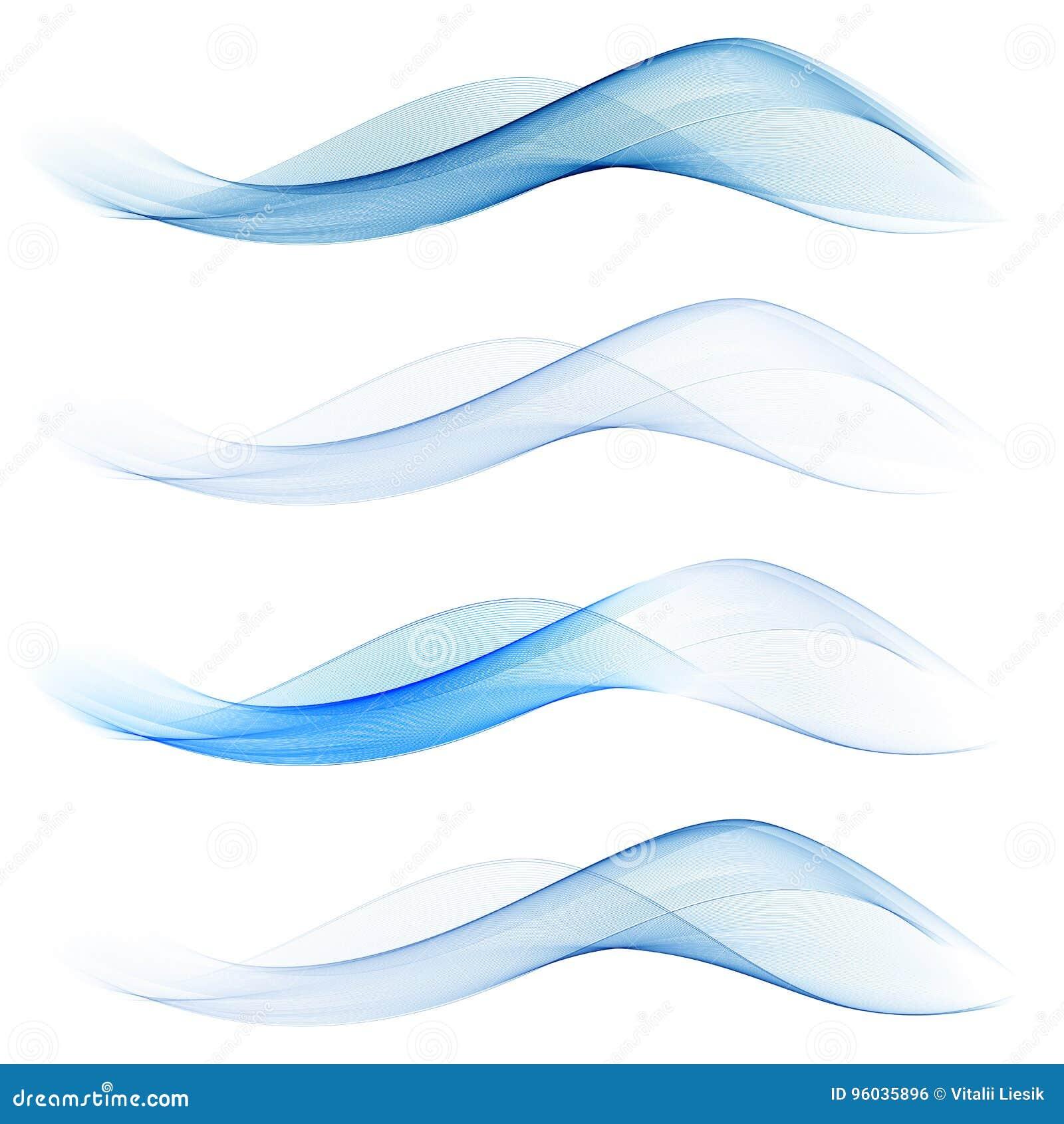 Insieme delle onde blu astratte