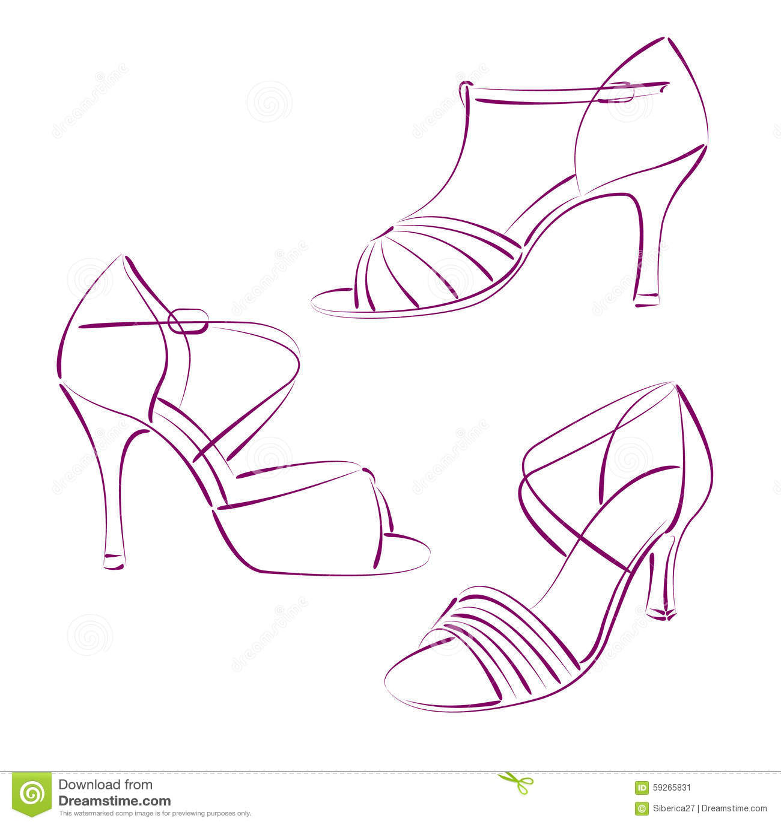 Schizzate Insieme Illustrazione Eleganti Delle S Donna Scarpe Della qE6r0xER