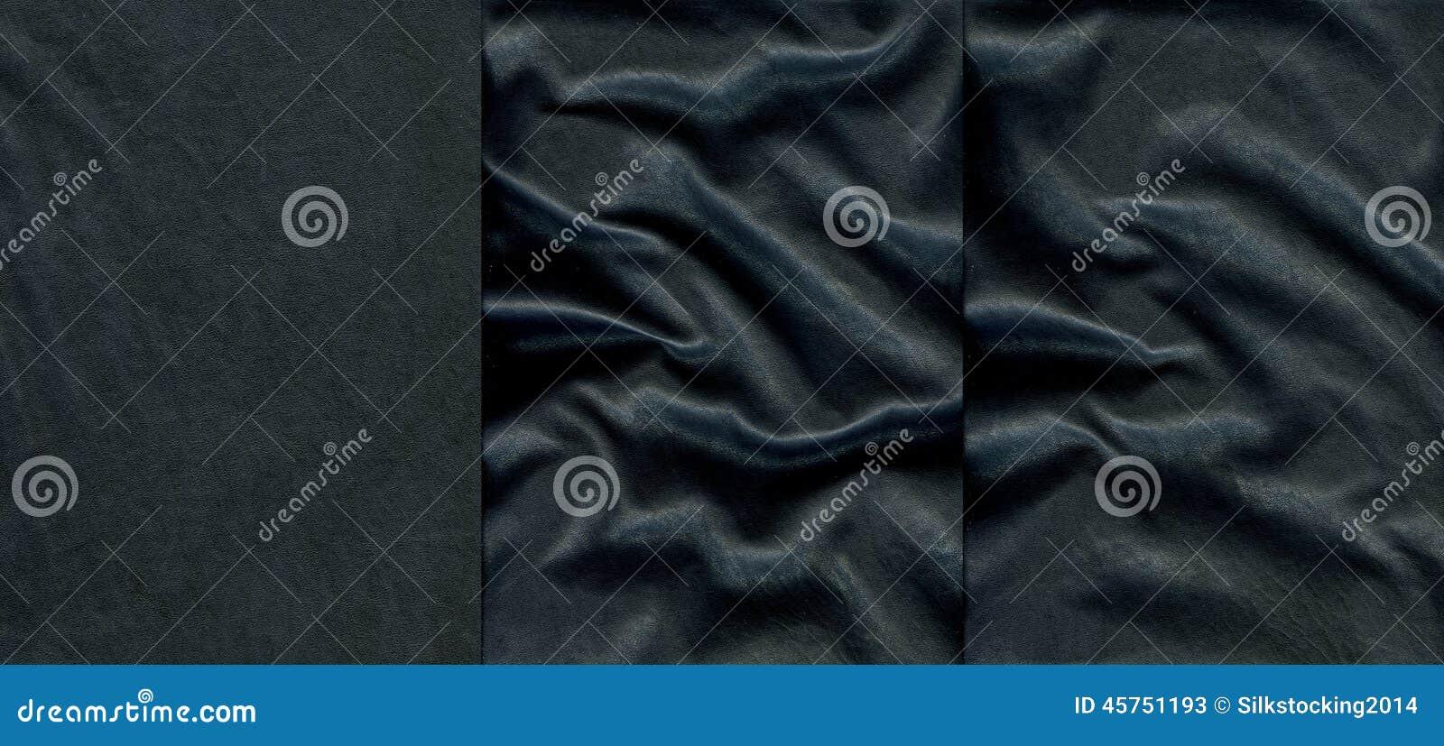 Insieme delle strutture di cuoio blu scuro