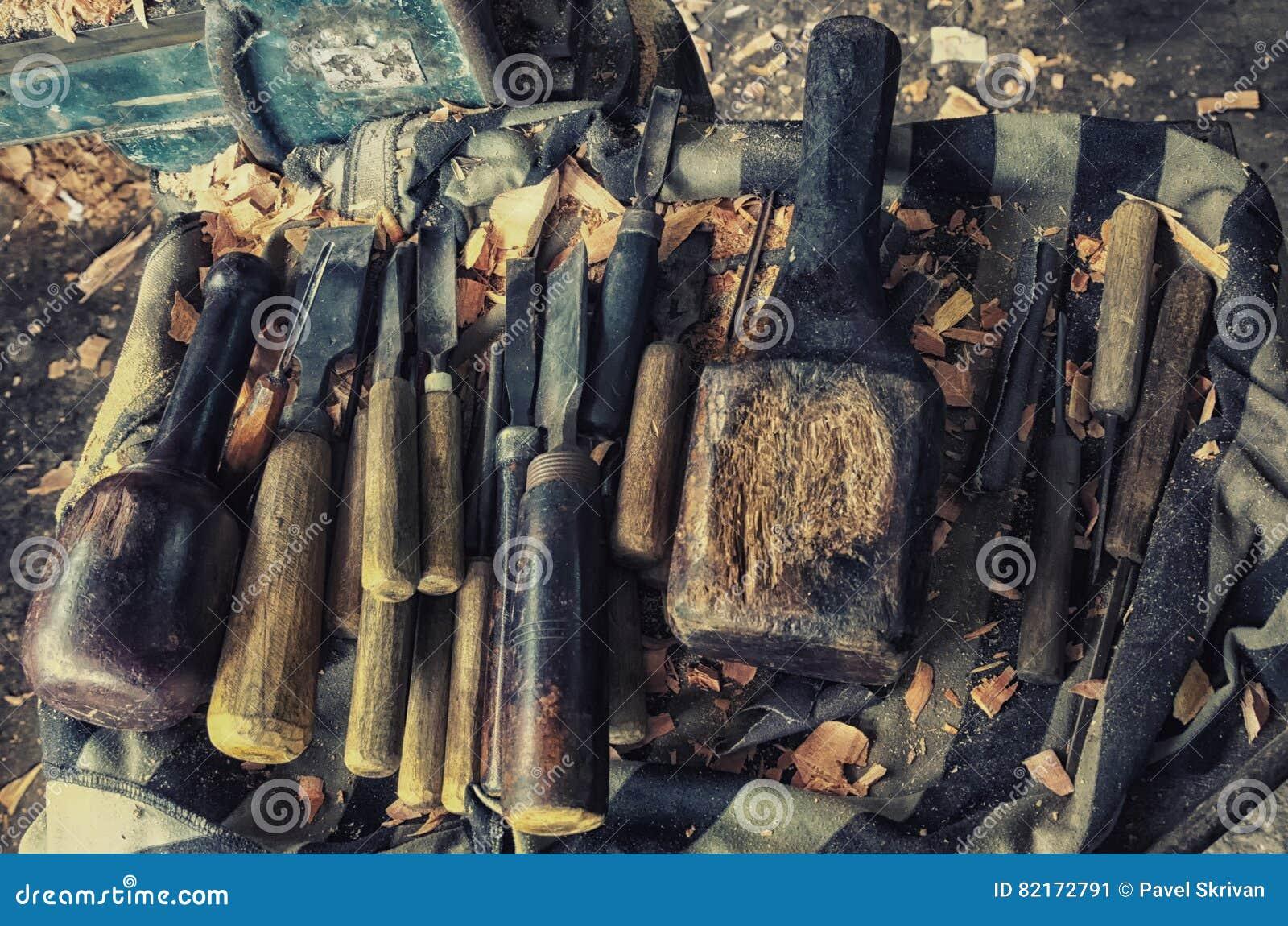 Insieme dello scalpello da legno