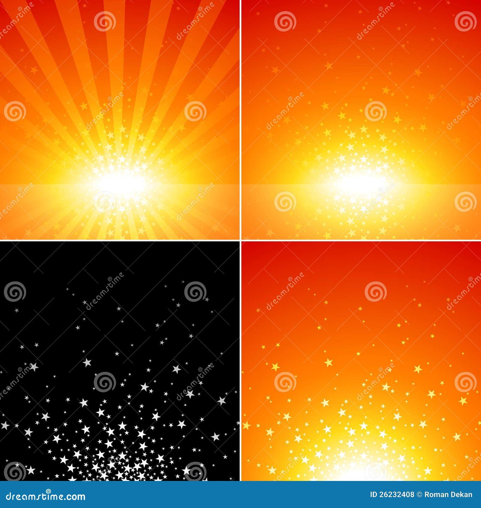 Insieme di burst della stella