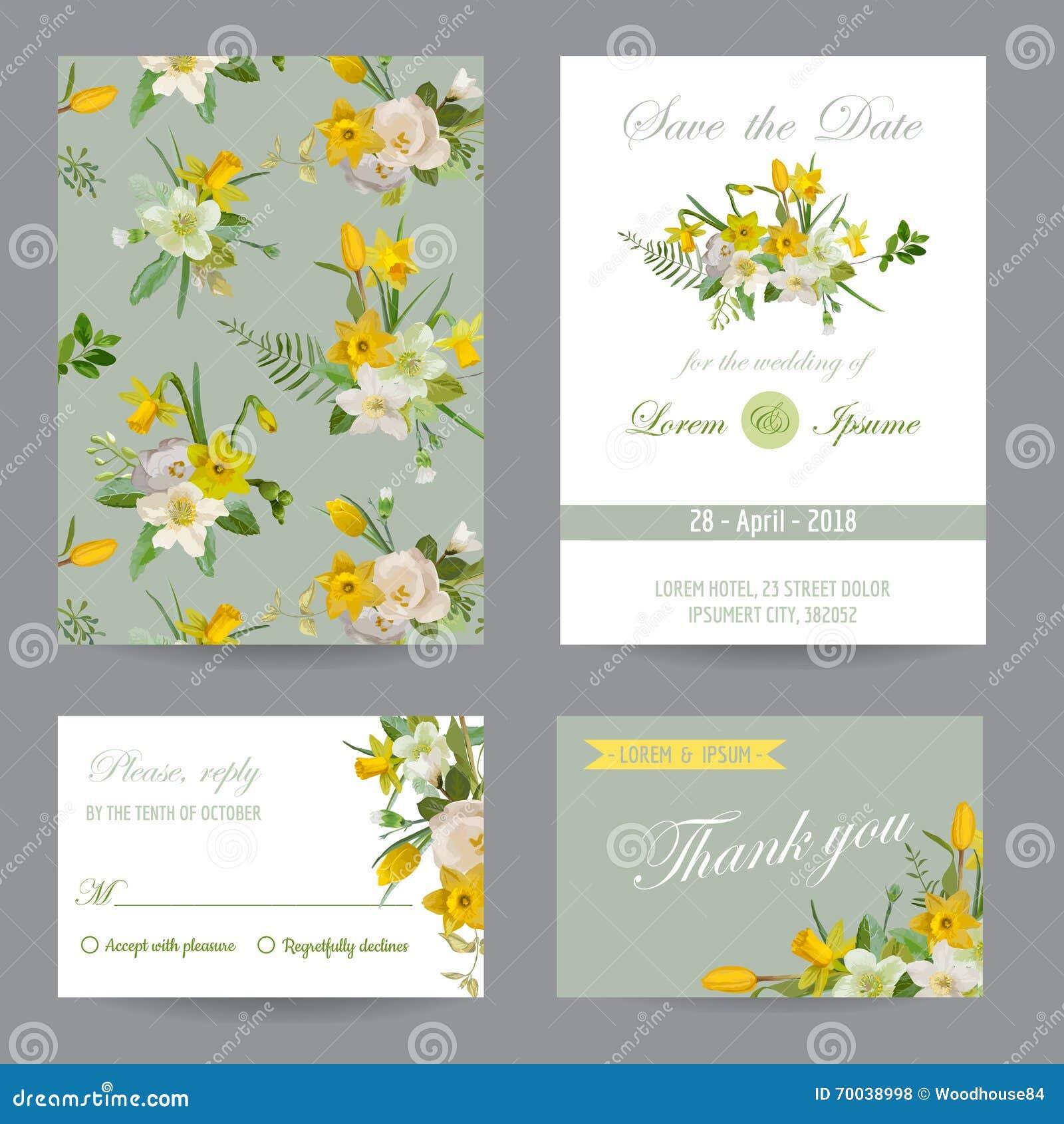 Insieme di carta di congratulazione dell invito di nozze Salvo la data