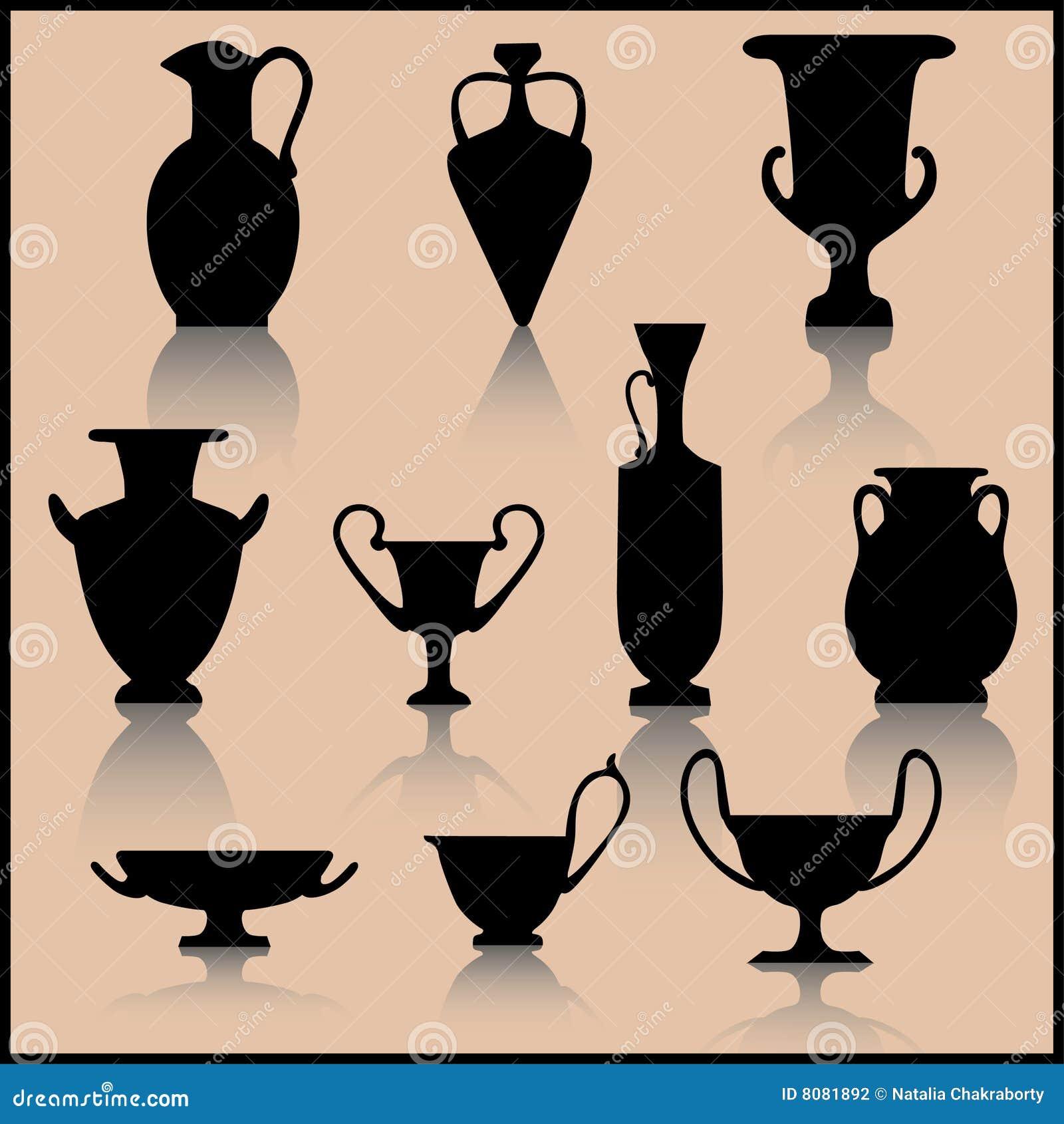 Insieme di ceramica antica