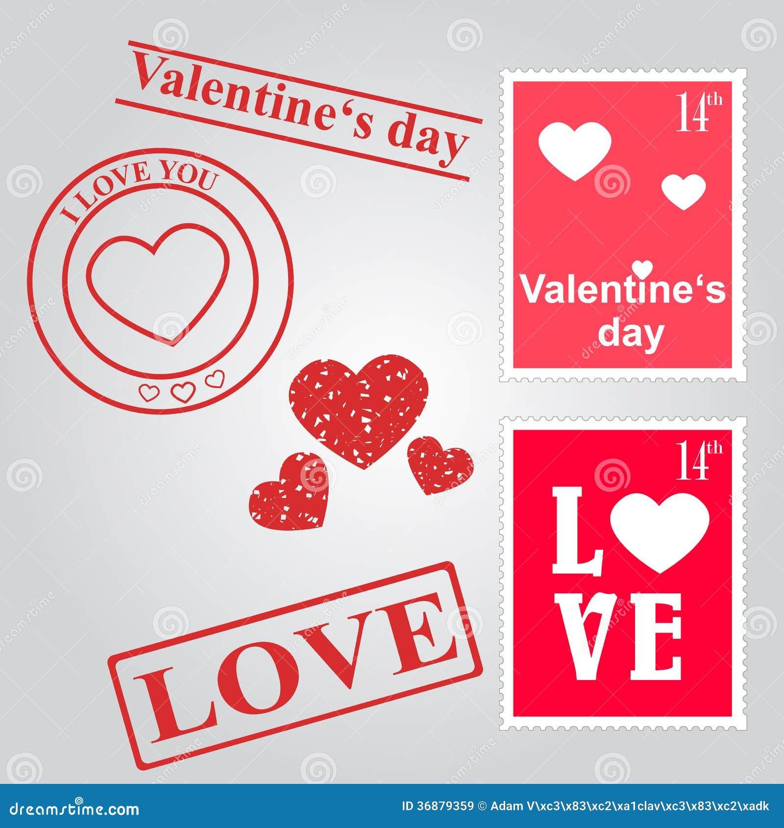 Download Insieme Di Giorno Di Biglietti Di S. Valentino Illustrazione Vettoriale - Illustrazione di illustrazione, rosso: 36879359