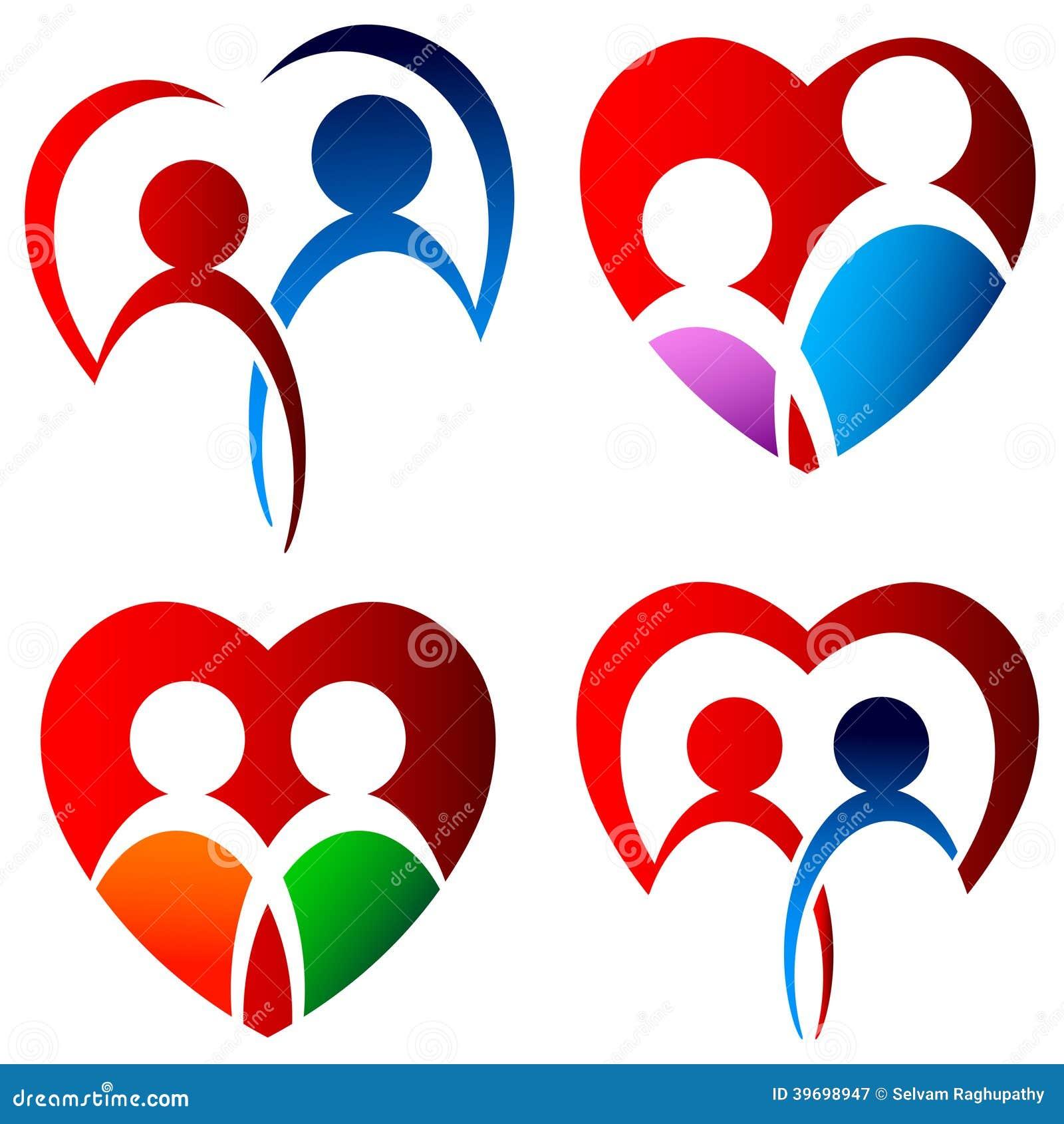 Insieme di logo degli amanti