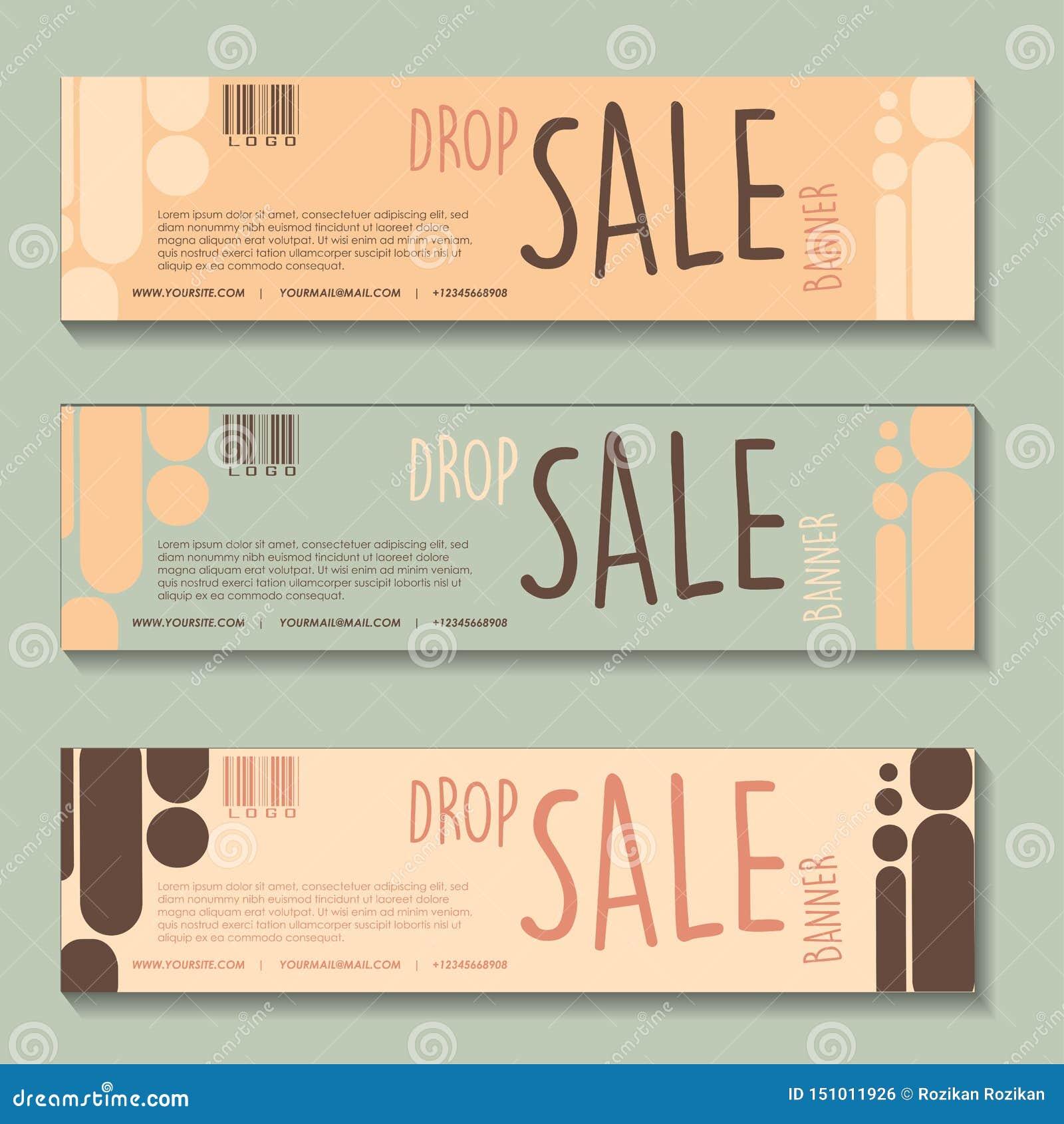 Insieme di progettazione dell insegna di vendita di goccia