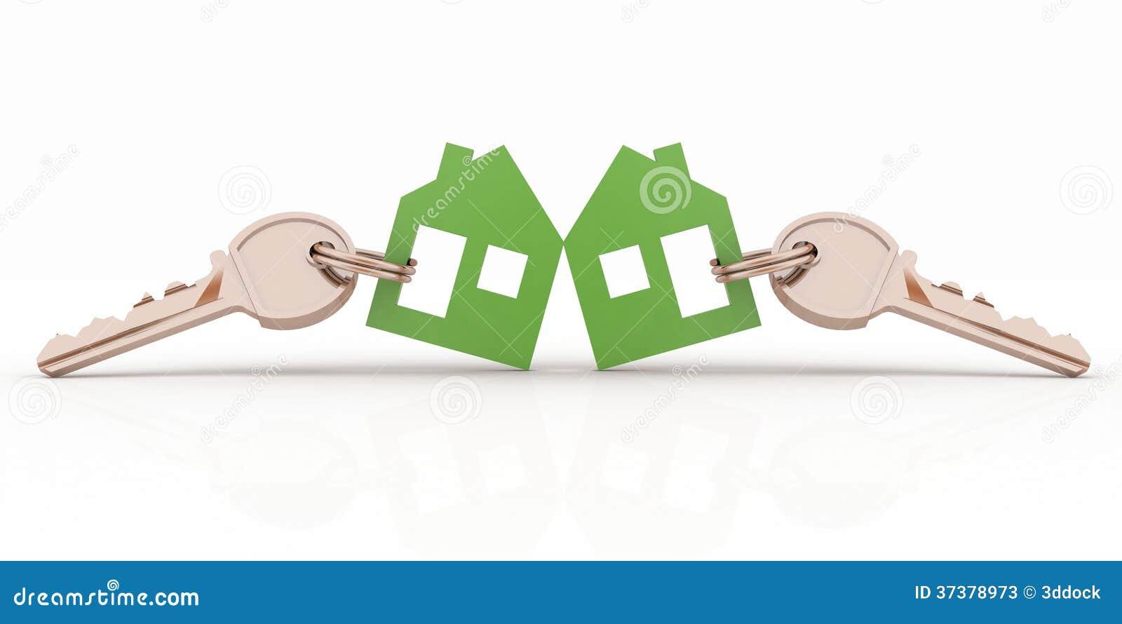 Insieme di simboli di modello della casa con le chiavi for Modello di casa