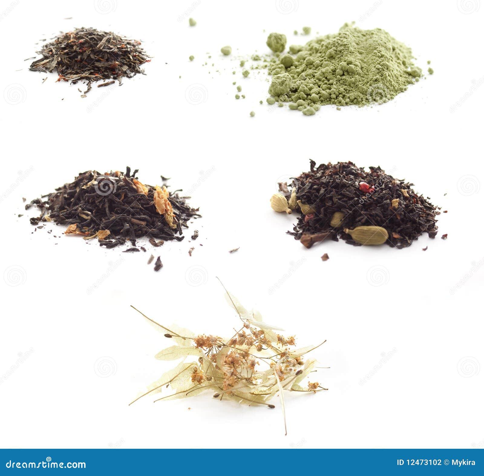 Insieme di tè e delle infusioni