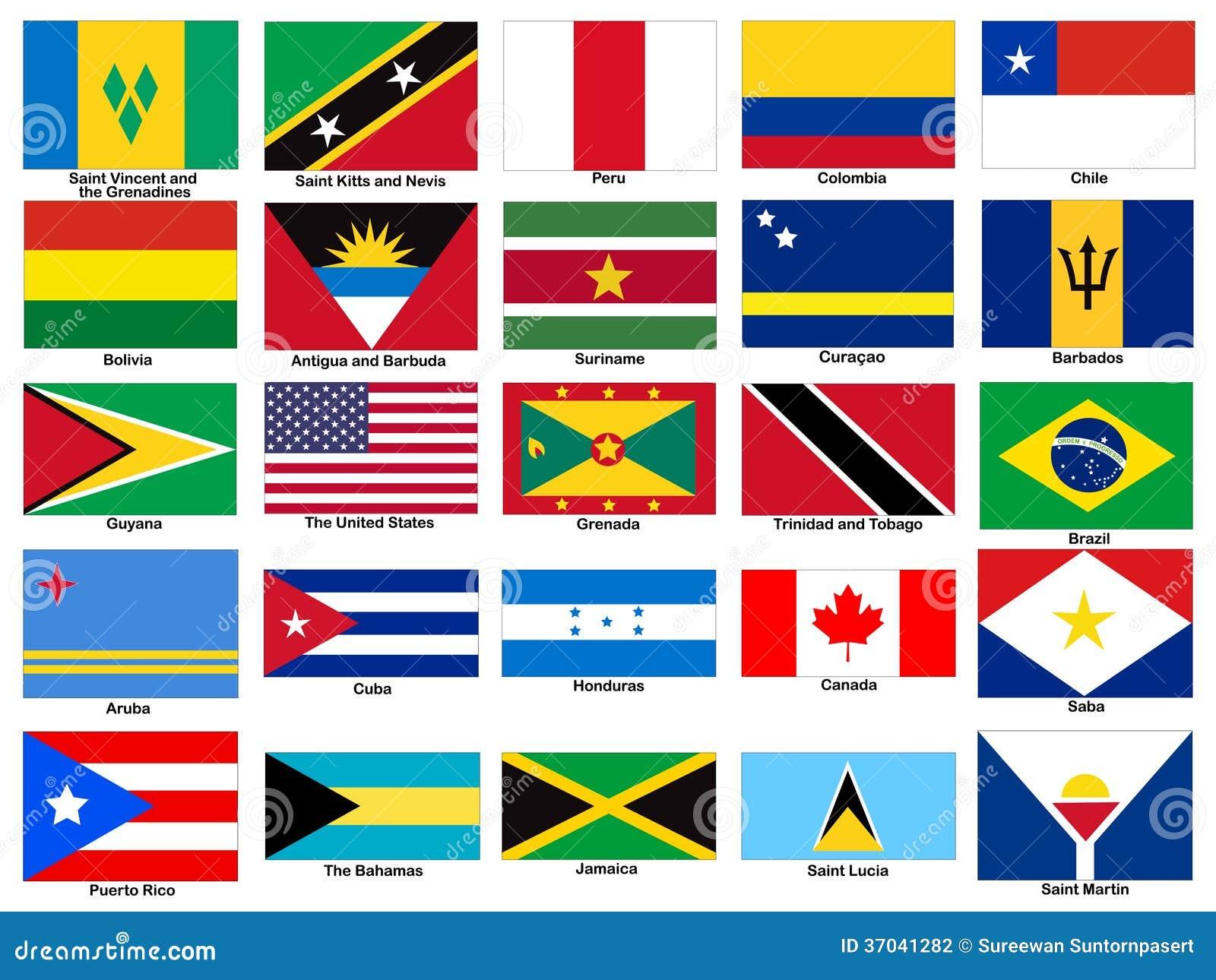 Insieme di vettore delle bandiere del continente dell - Baneras con cambiador para bebes ...