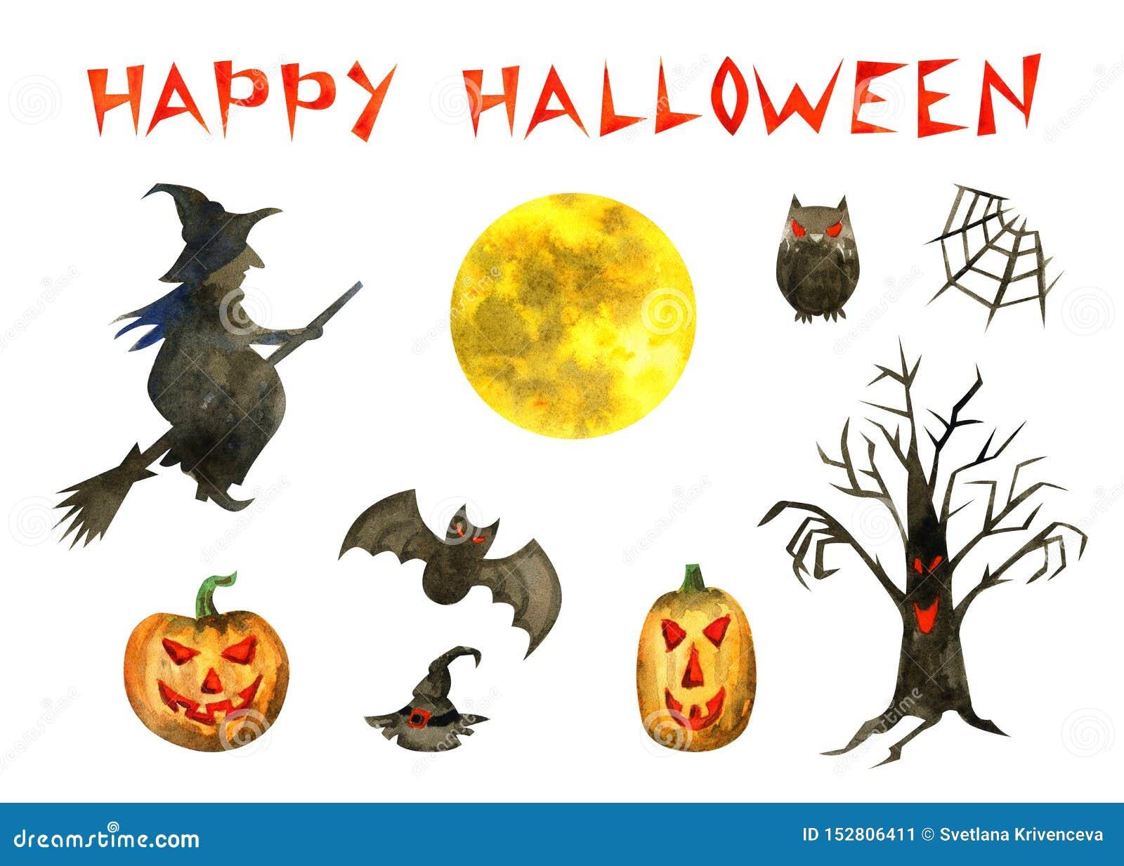 Insieme felice di Halloween