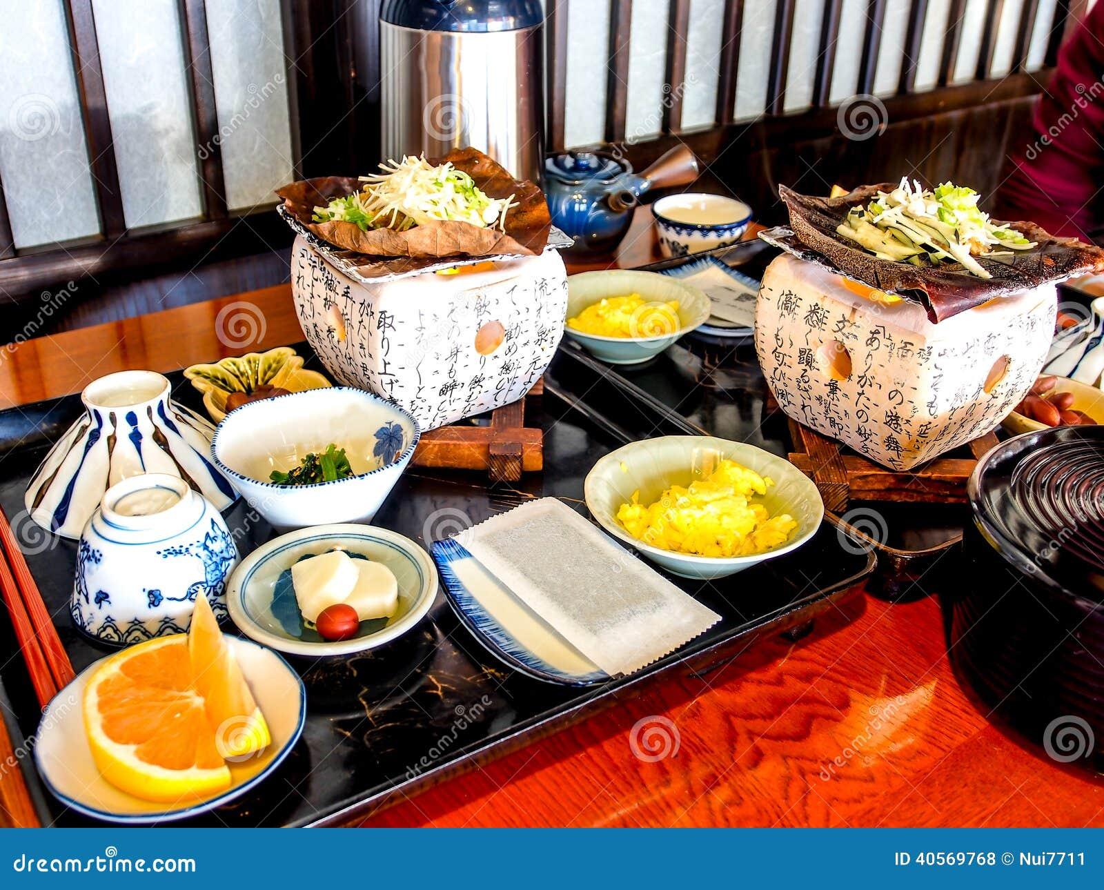 Insieme giapponese tradizionale della prima colazione for Colazione cinese