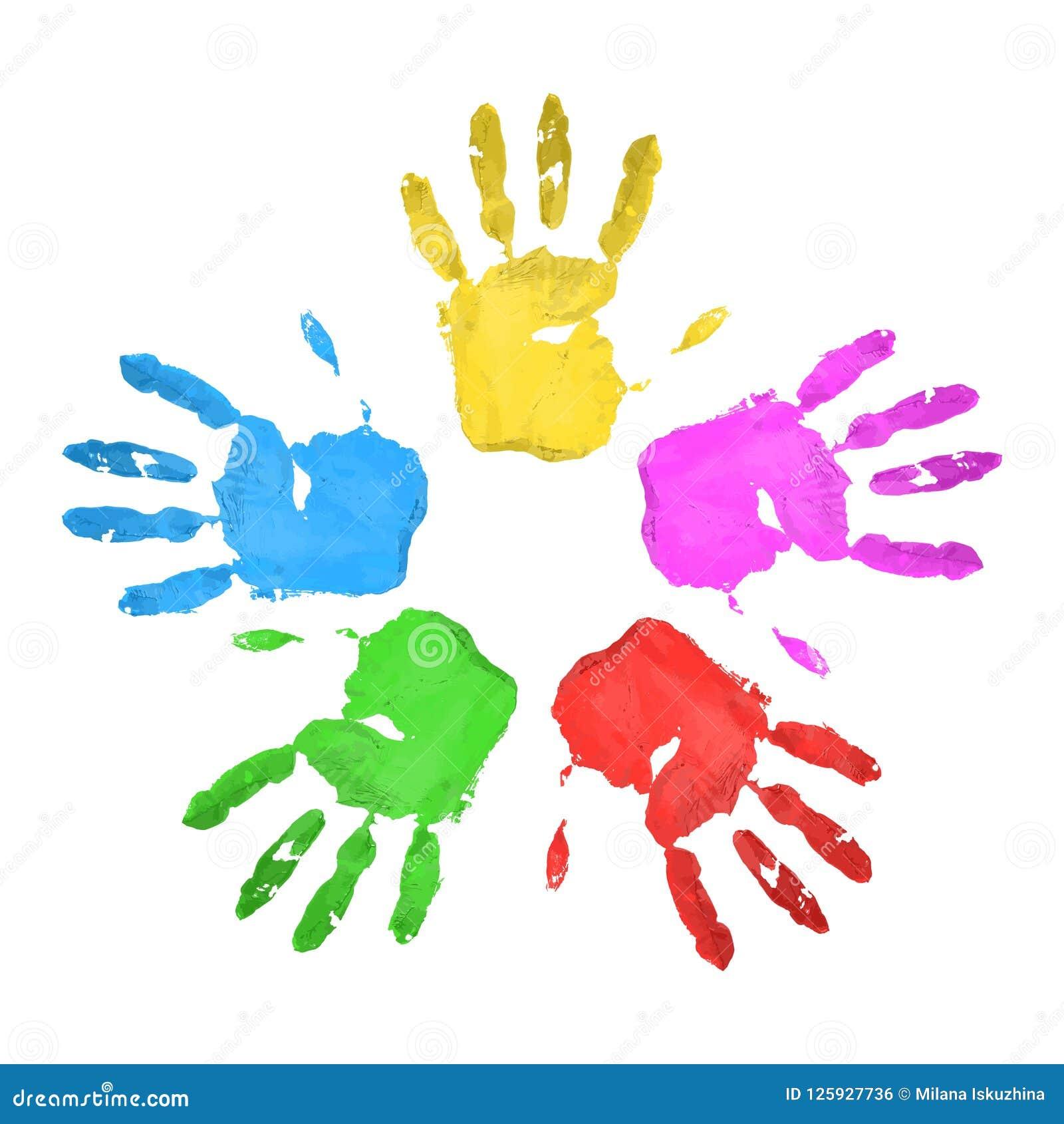 Insieme Handprints multicolored Molto