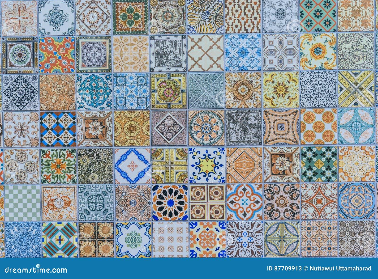 Insieme mega dei modelli delle piastrelle di ceramica della parete dalla tailandia immagine - Dielle piastrelle ...