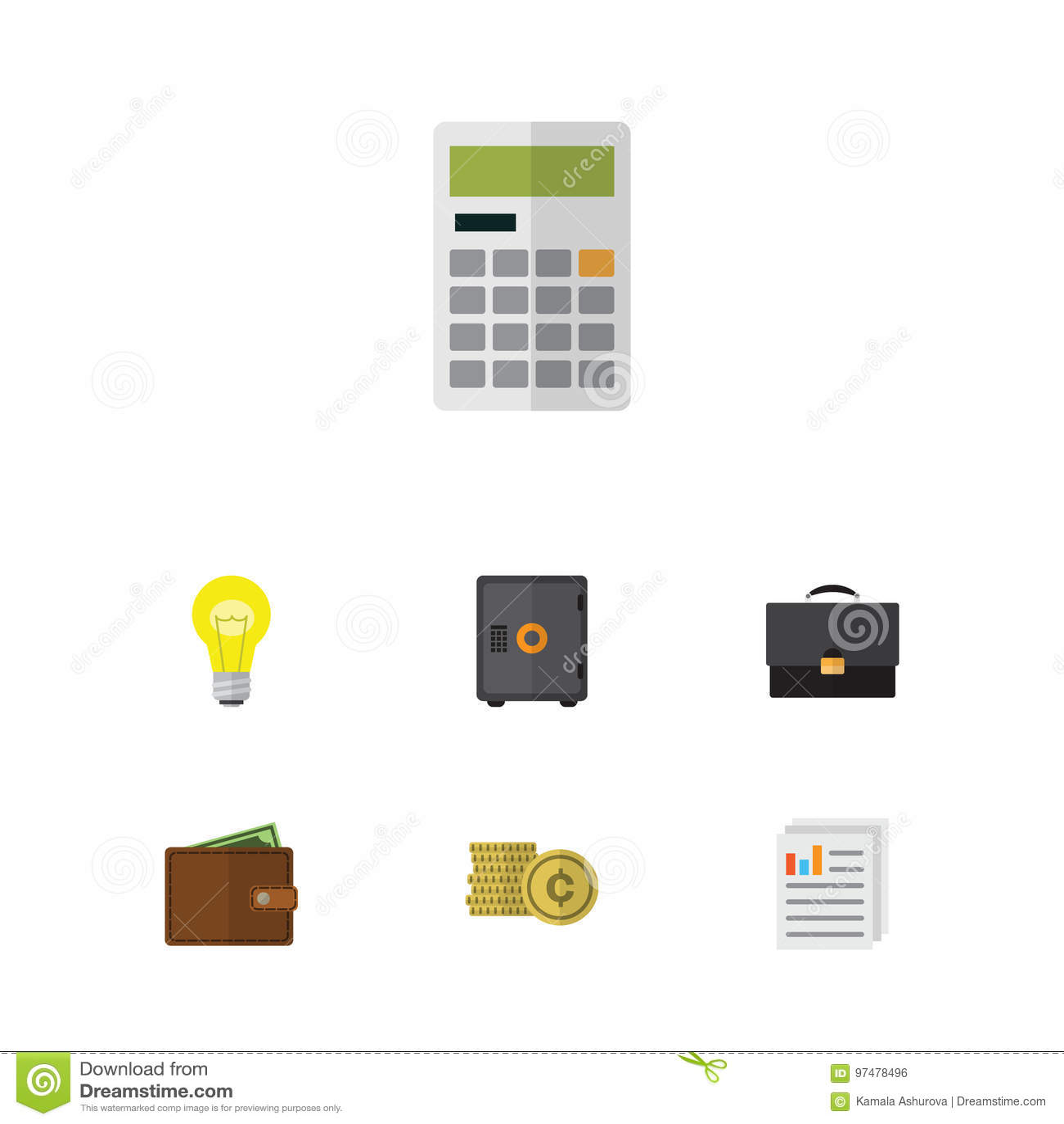 Insieme piano di finanza dell icona di contanti, di Bubl, del documento e di altri oggetti di vettore Inoltre include i contanti,