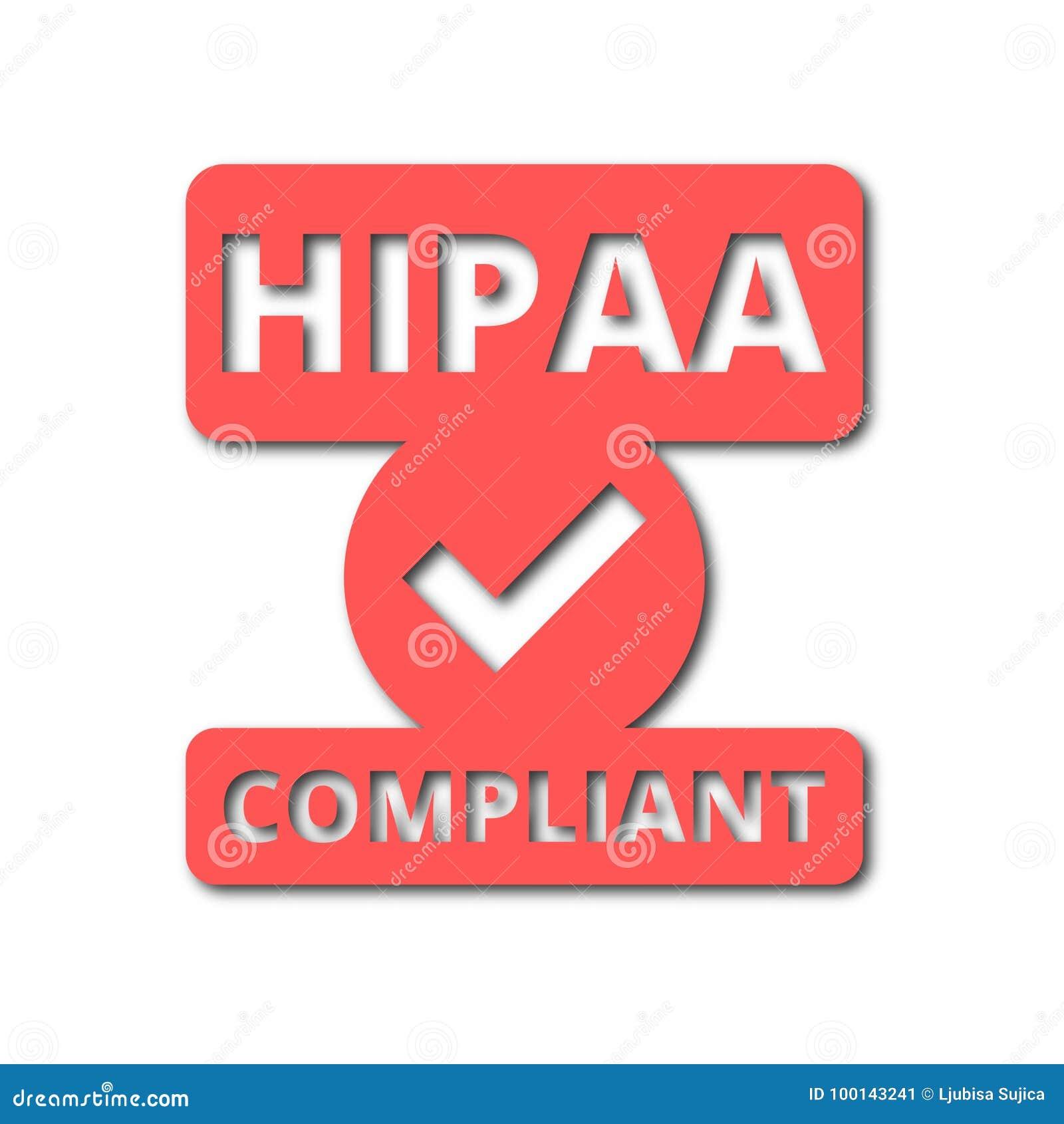 Insigne de HIPAA - les icônes d acte de portabilité et de responsabilité d assurance médicale maladie ont placé avec la longue om