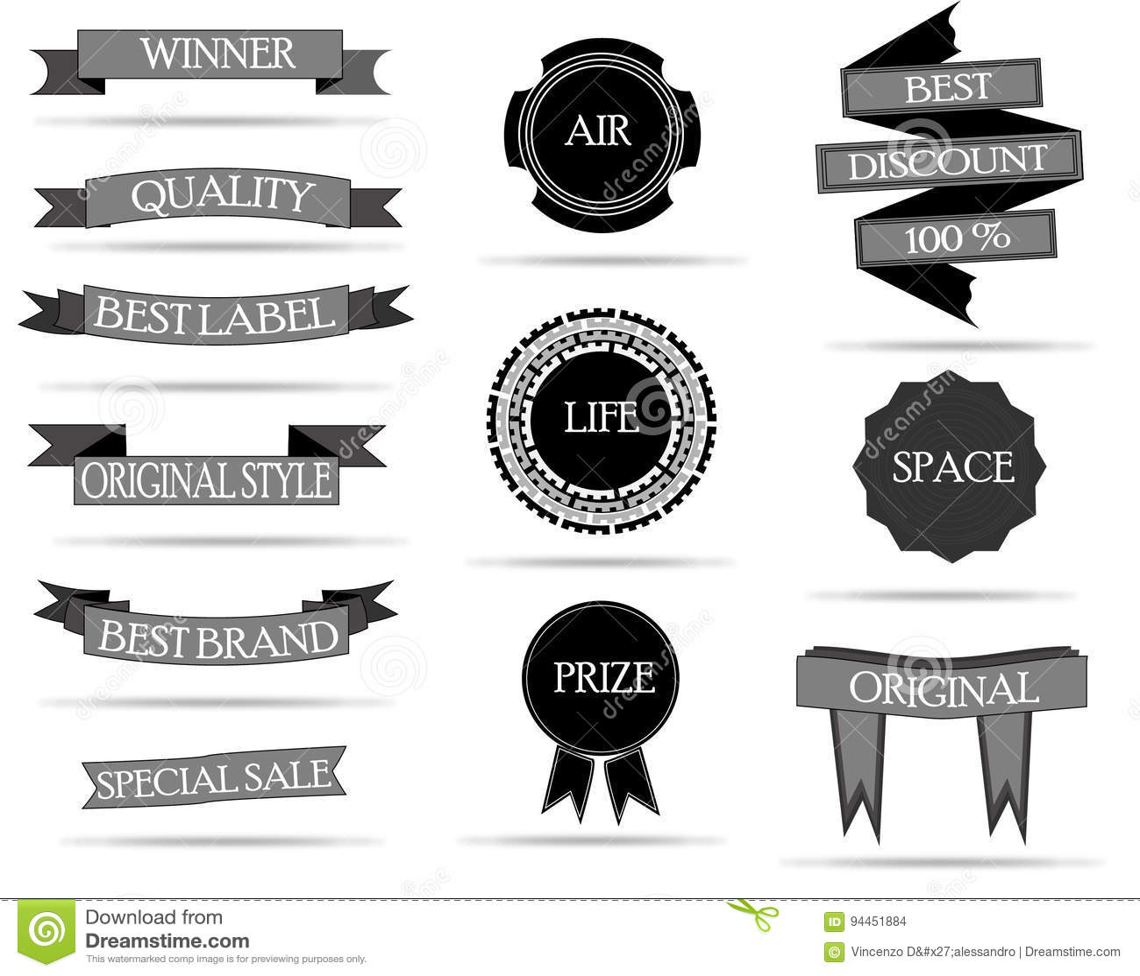 Insignes et collection de labels