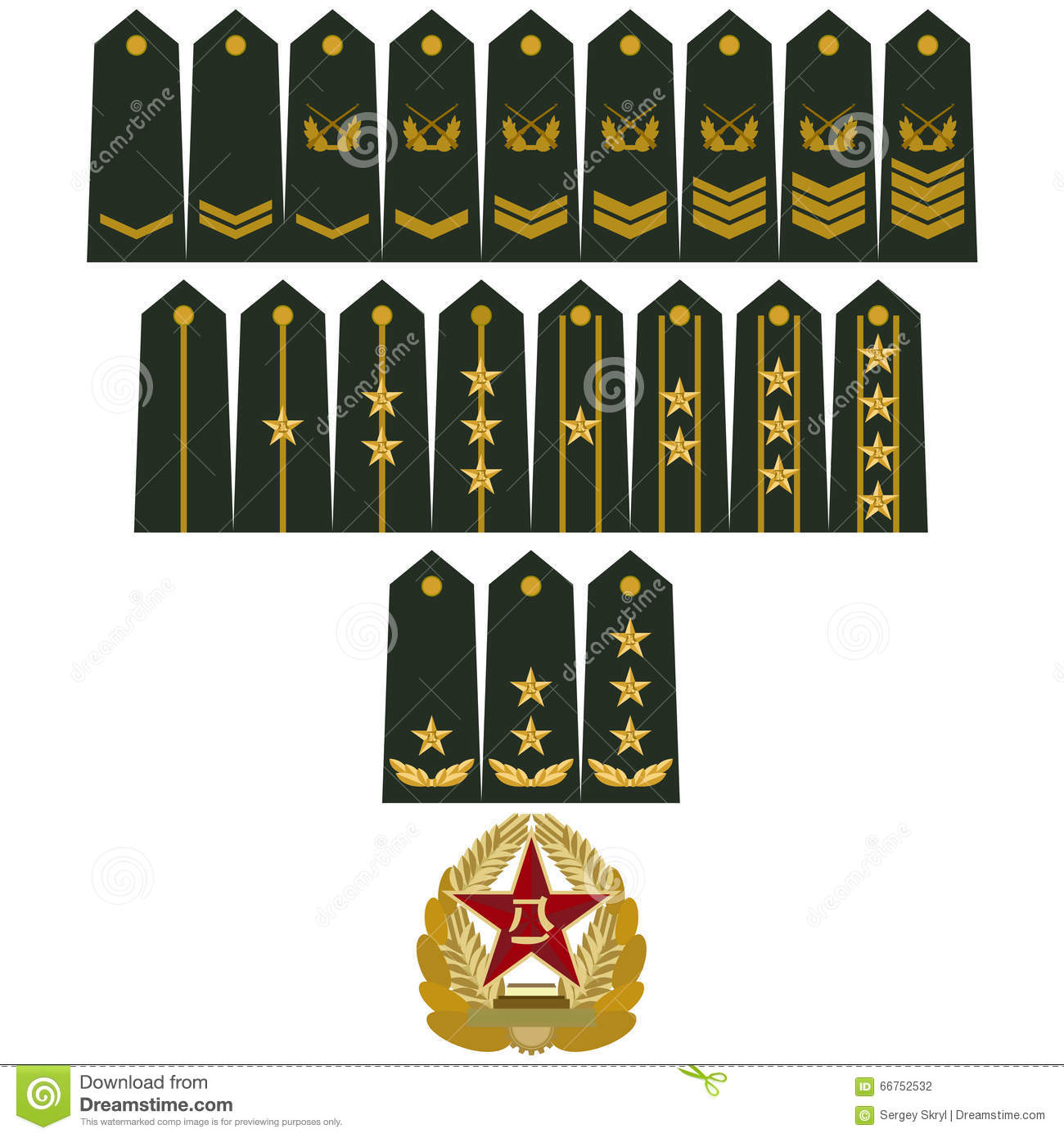 Insignia army of china stock vector illustration of collection insignia army of china biocorpaavc Images