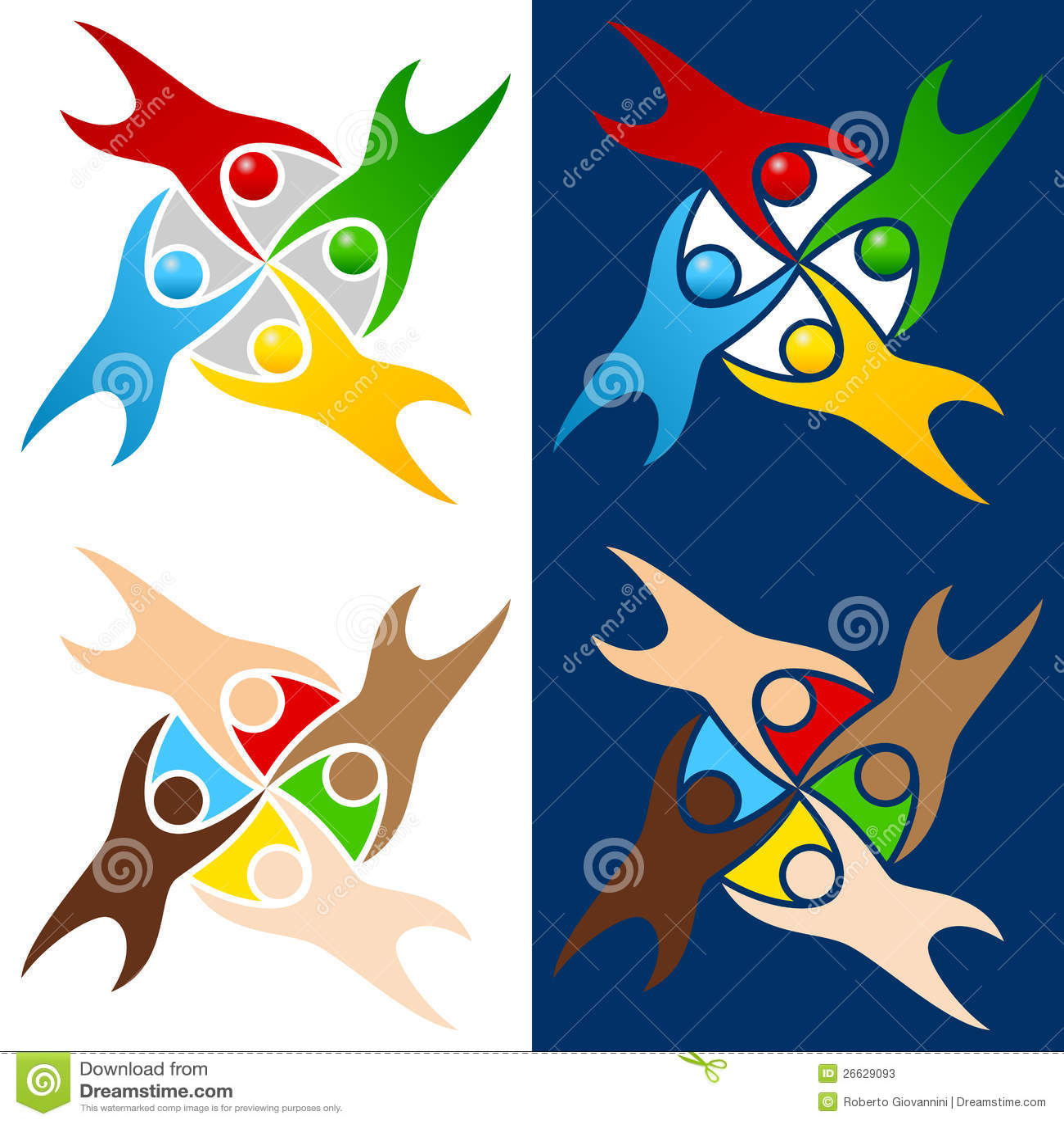 Insignia colorida de la gente del mundo