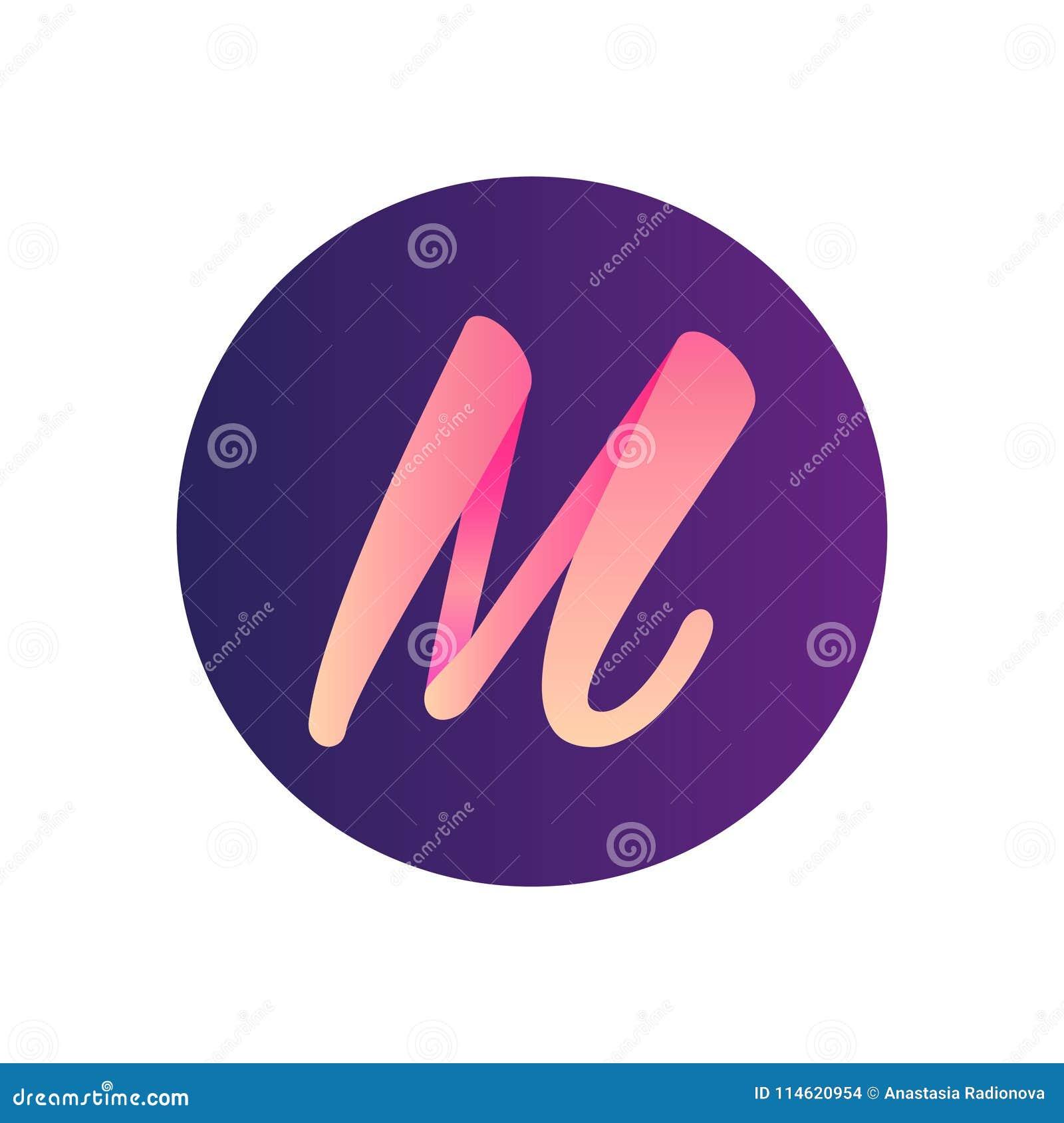 Insignia 3d La Letra M Y La Palabra Malibu Ilustración del Vector ...