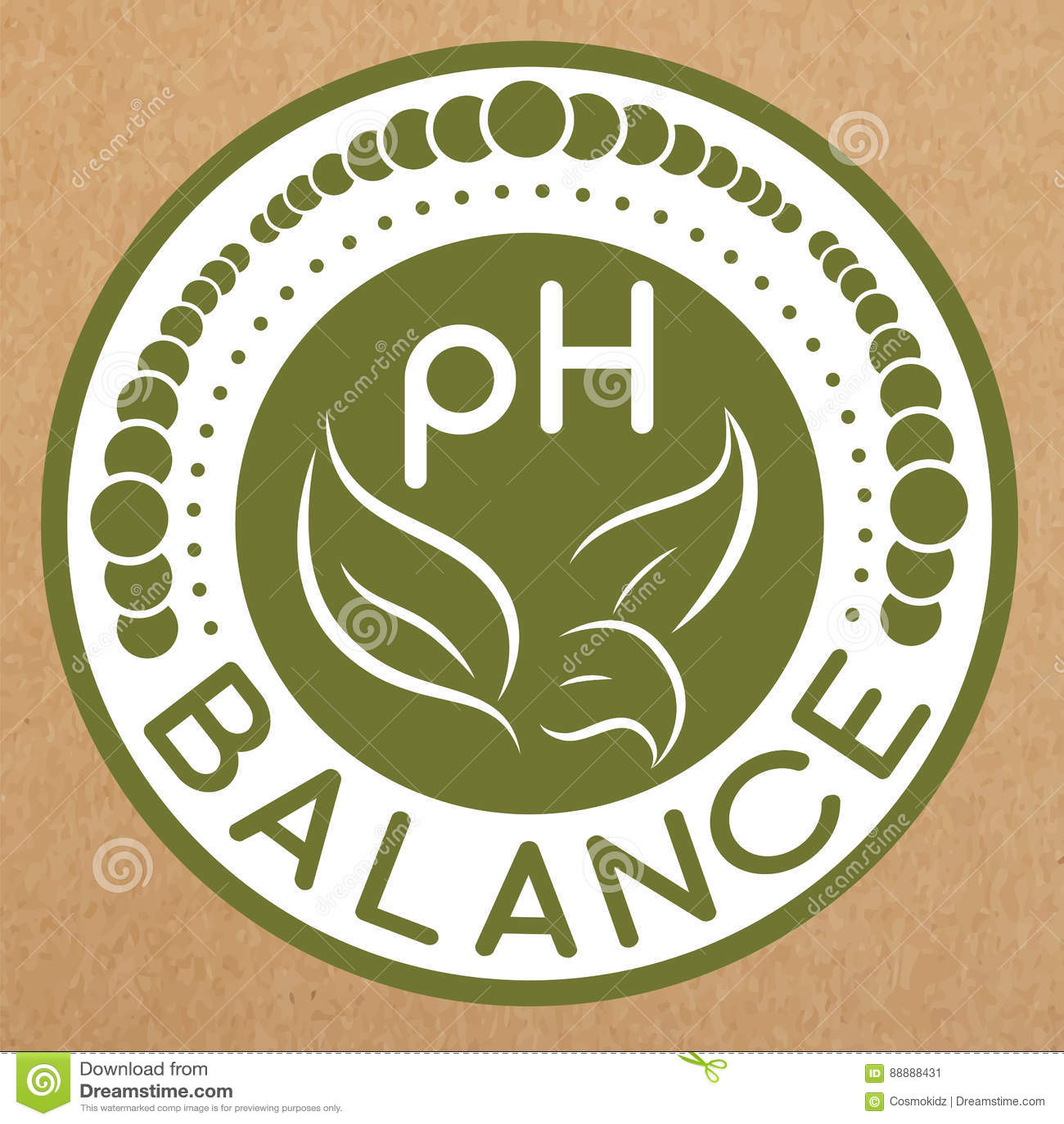 Insignia de la balanza del pH, icono, disposición de la etiqueta engomada