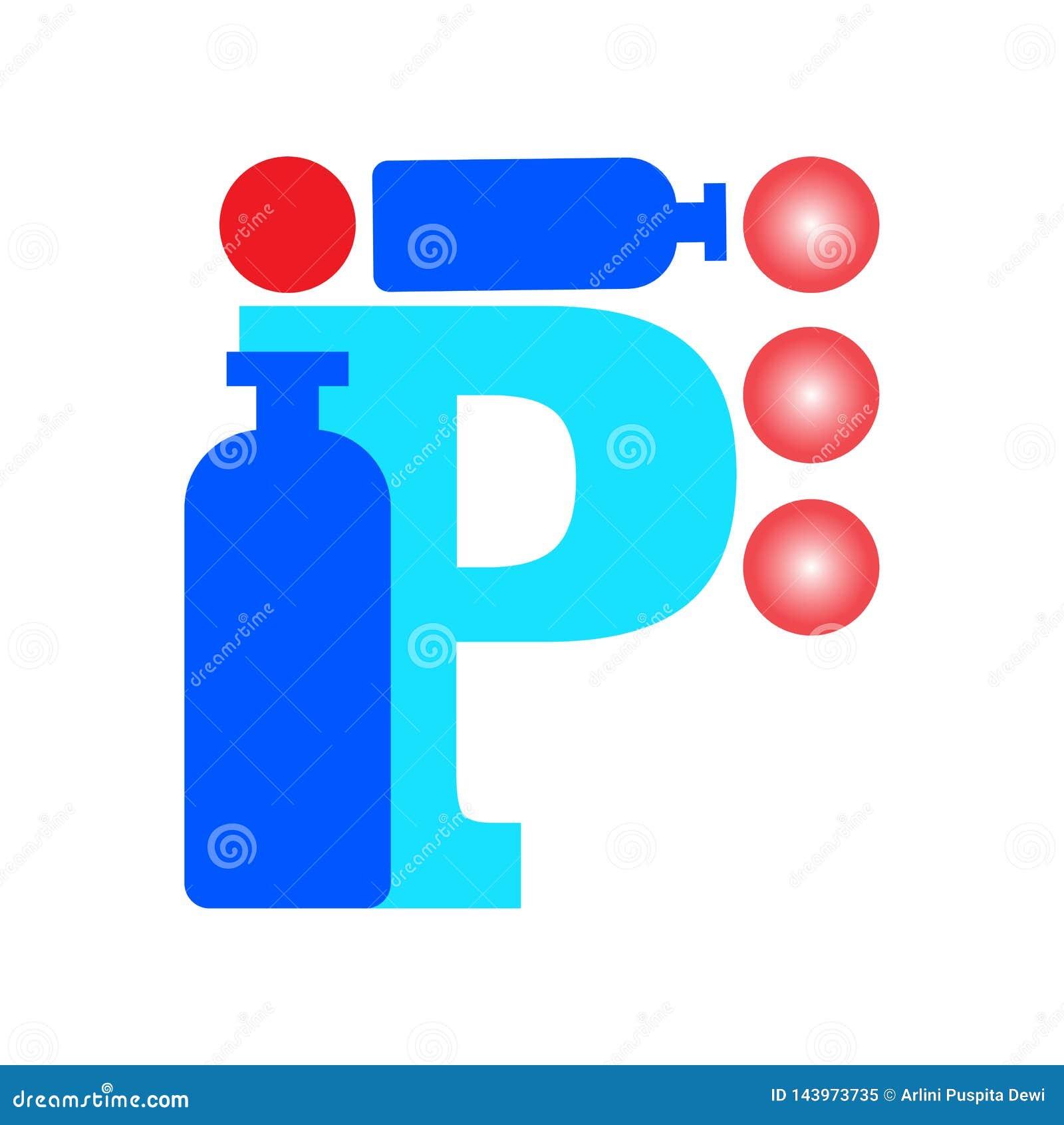 Insignia de la letra P En