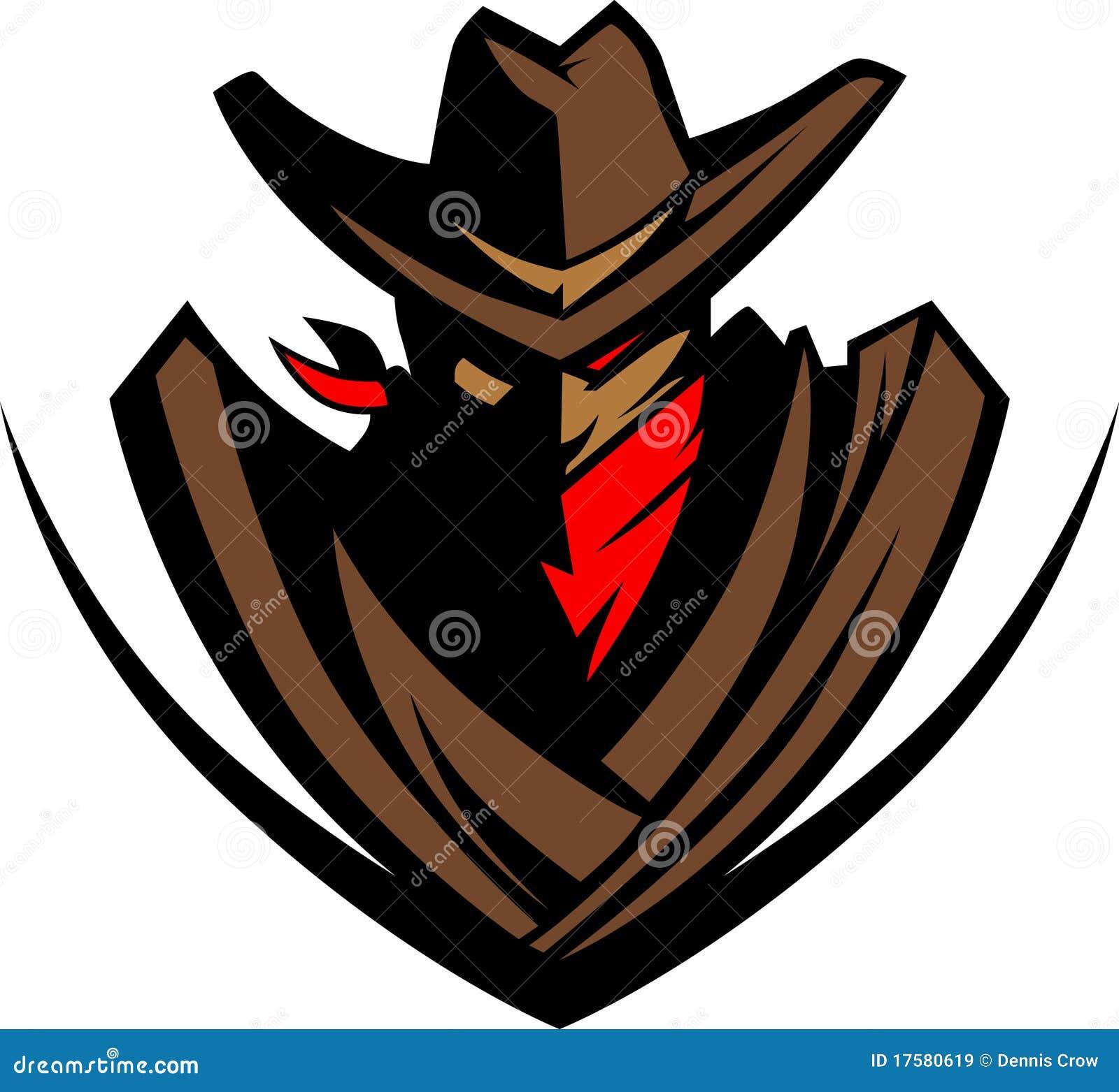 Insignia de la mascota del vaquero