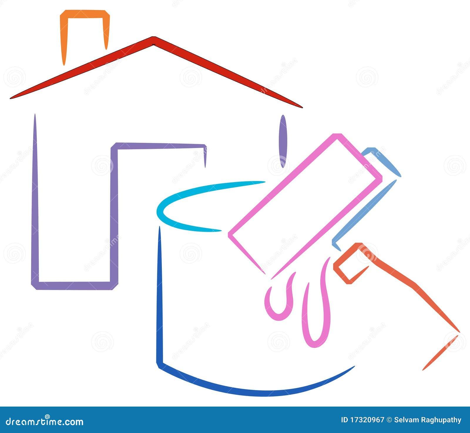 Insignia de la pintura de casa