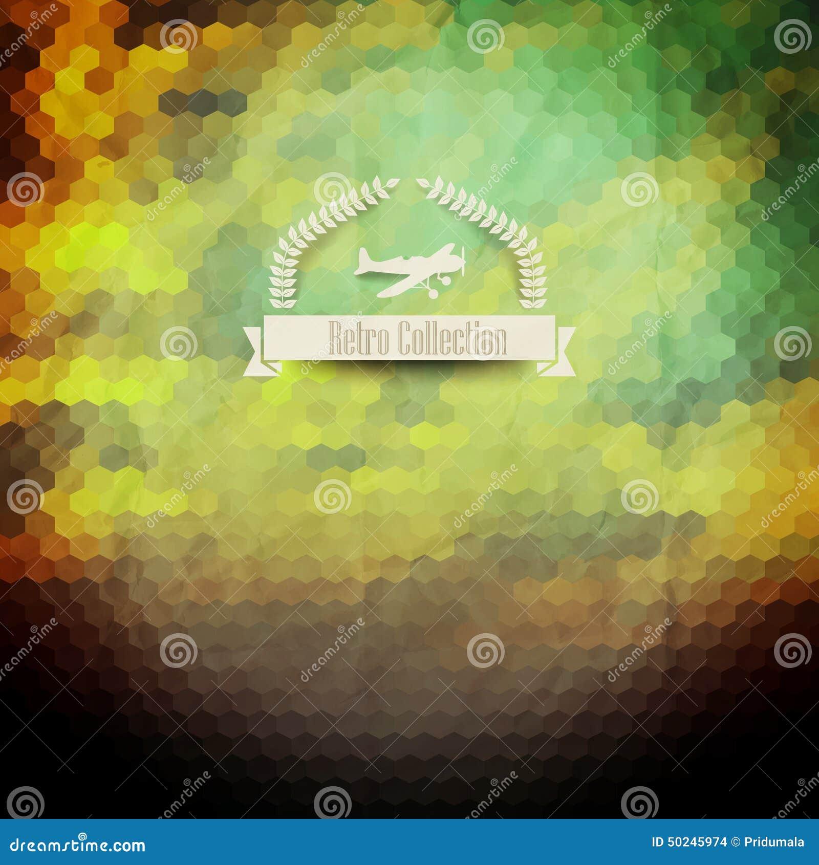 Insignia del inconformista del vector Puesta del sol Cielo Nubes Wi retros del diseño de la etiqueta