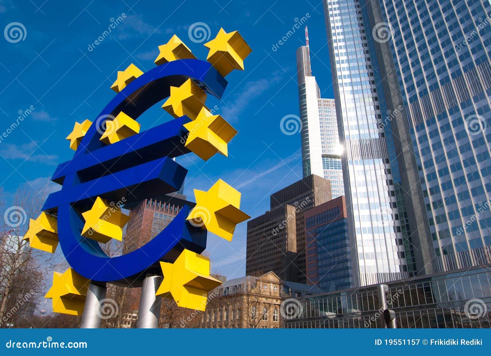 Insignia EURO en Frankfurt-am-Main
